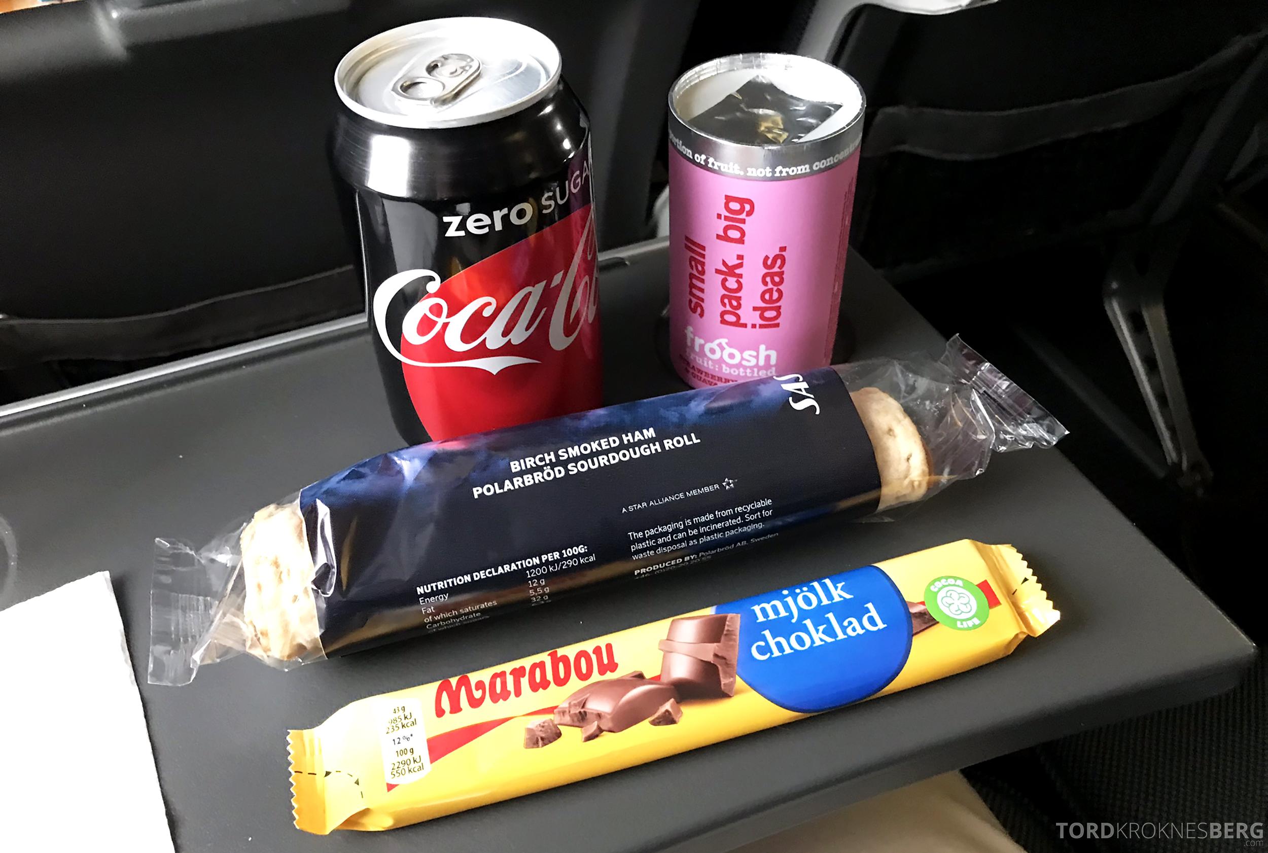SAS Plus Oslo Stockholm snacks
