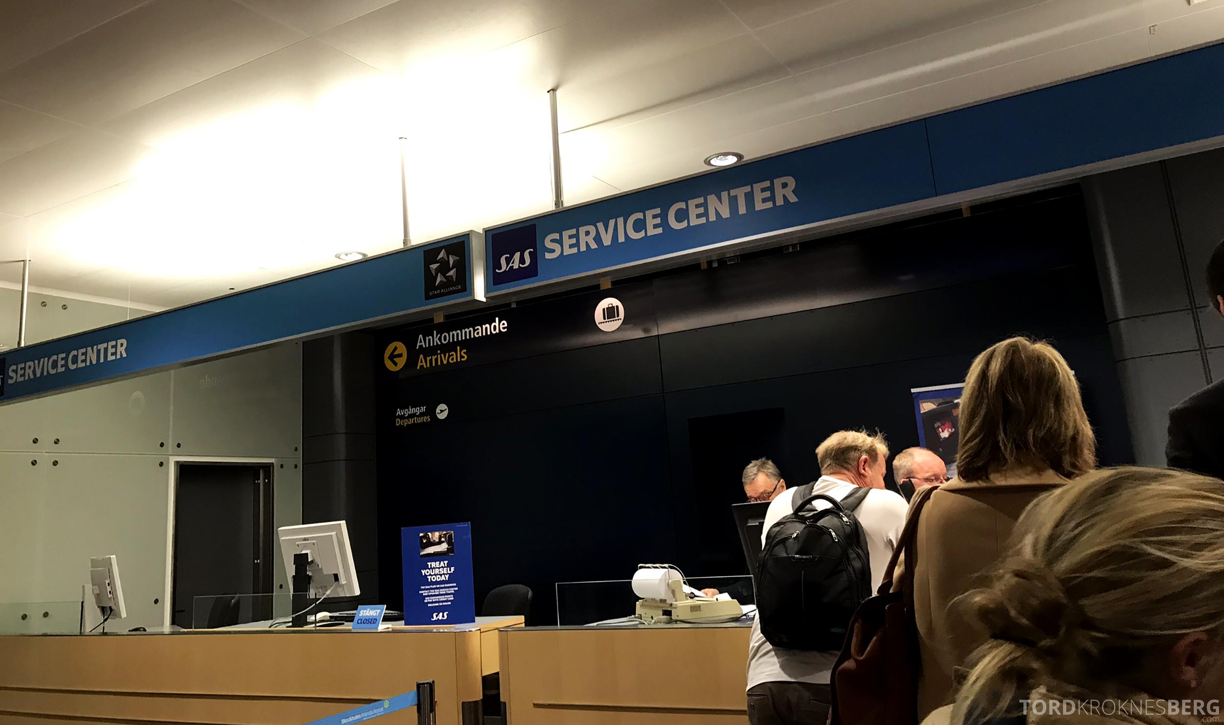 SAS Plus Oslo Stockholm Chicago kansellering