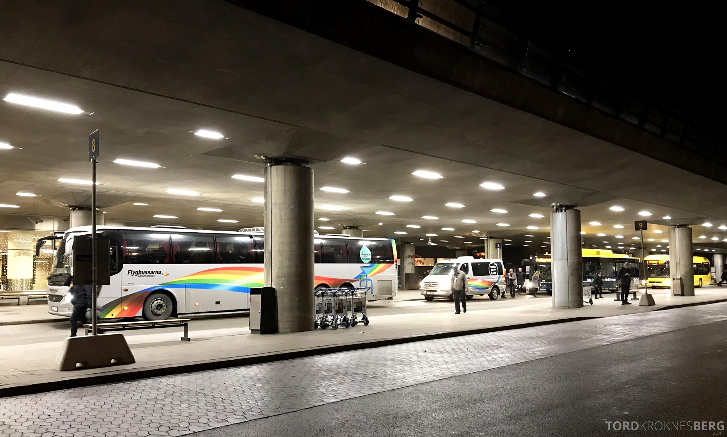 SAS Plus Oslo Stockholm Chicago buss