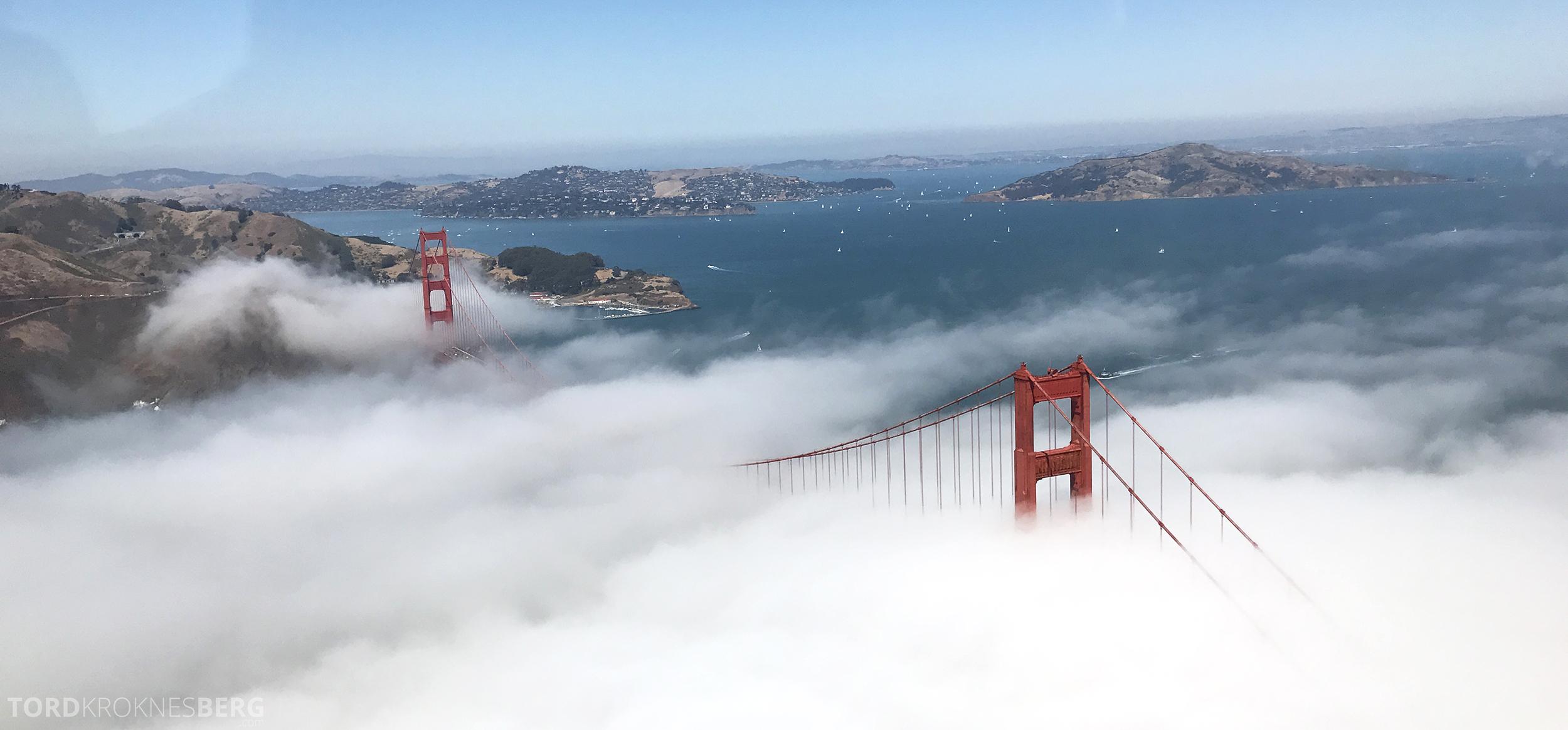 San Francisco Helicopter Tour Golden Gate tåke