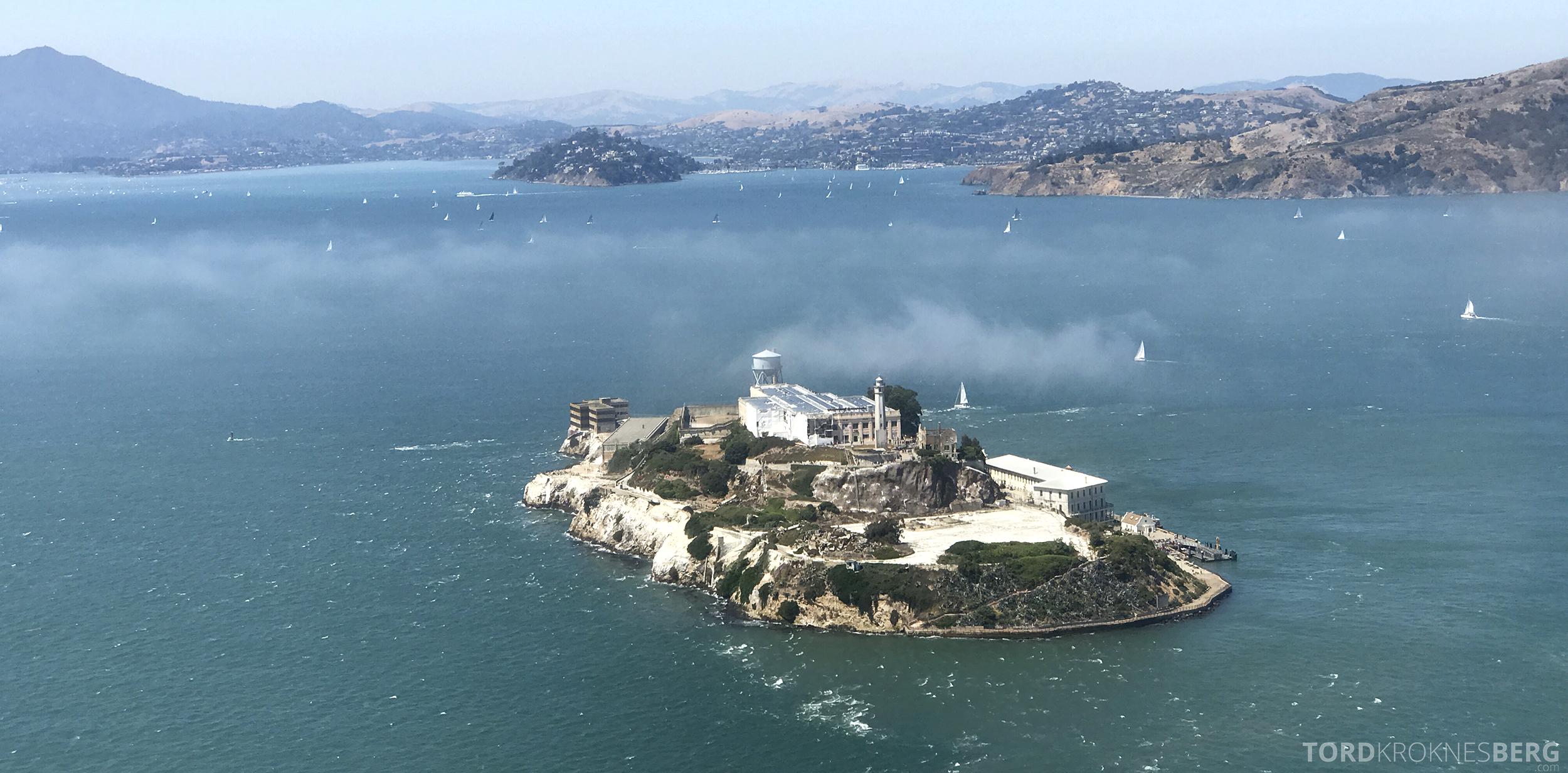 San Francisco Helicopter Tour Alcatraz utsikt
