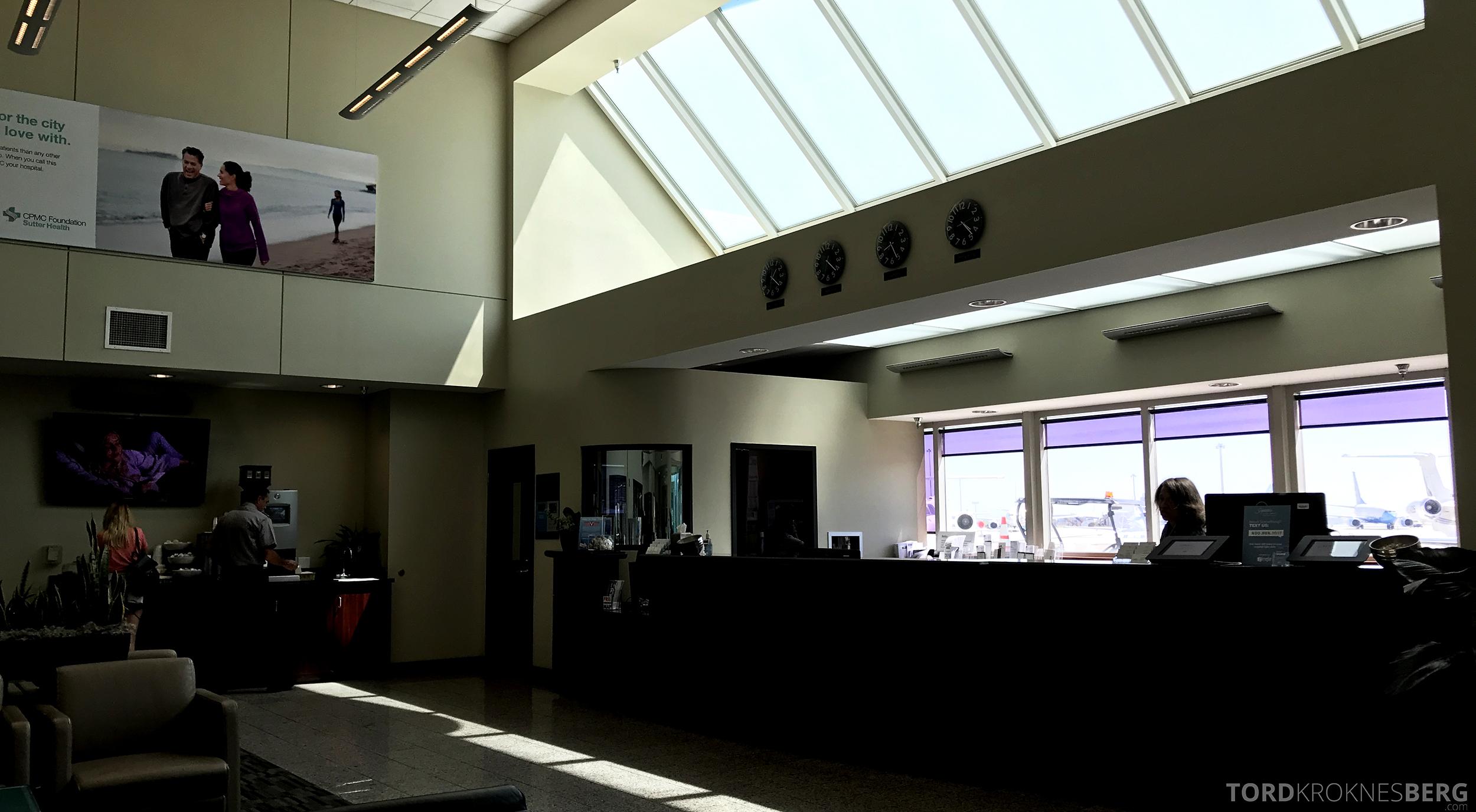 San Francisco Helicopter Tour Executive Terminal resepsjon