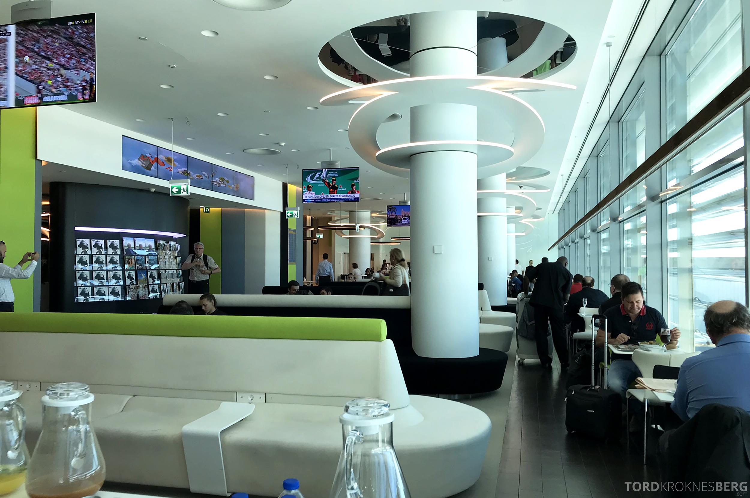 TAP Lounge Lisbon sitteplass