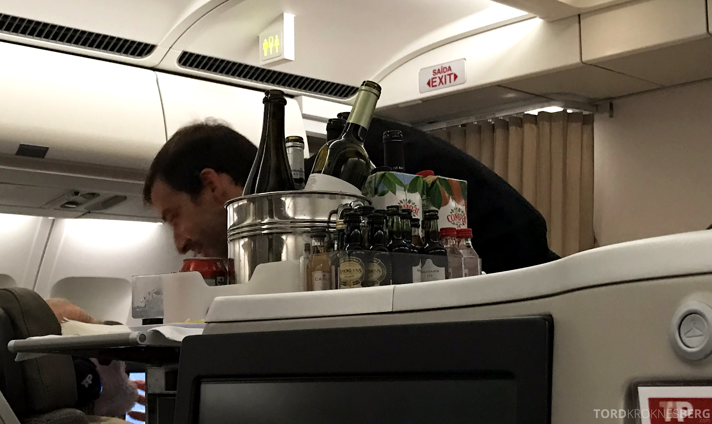 TAP Portugal Business Class Lisbon New York drikke