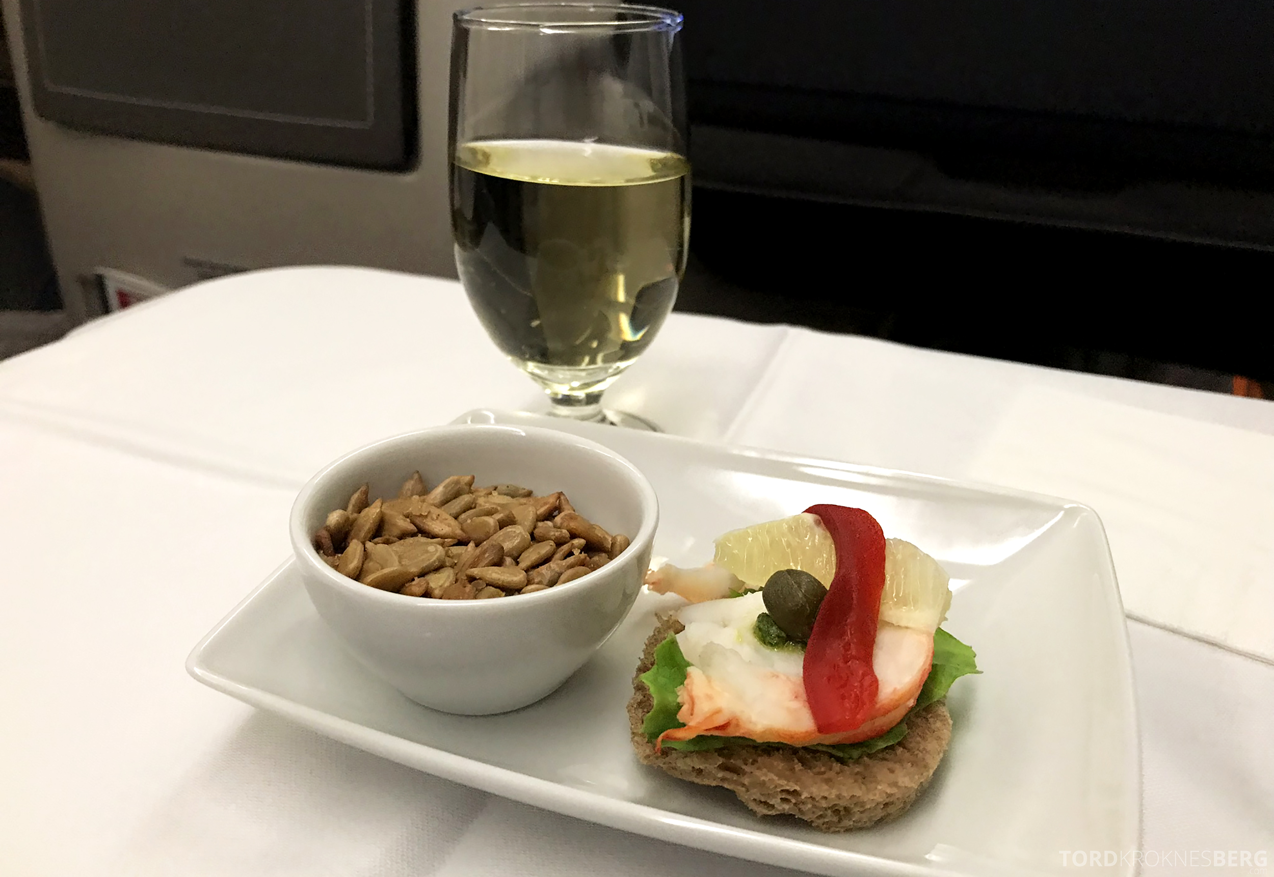 TAP Portugal Business Class Lisbon New York appetittvekker