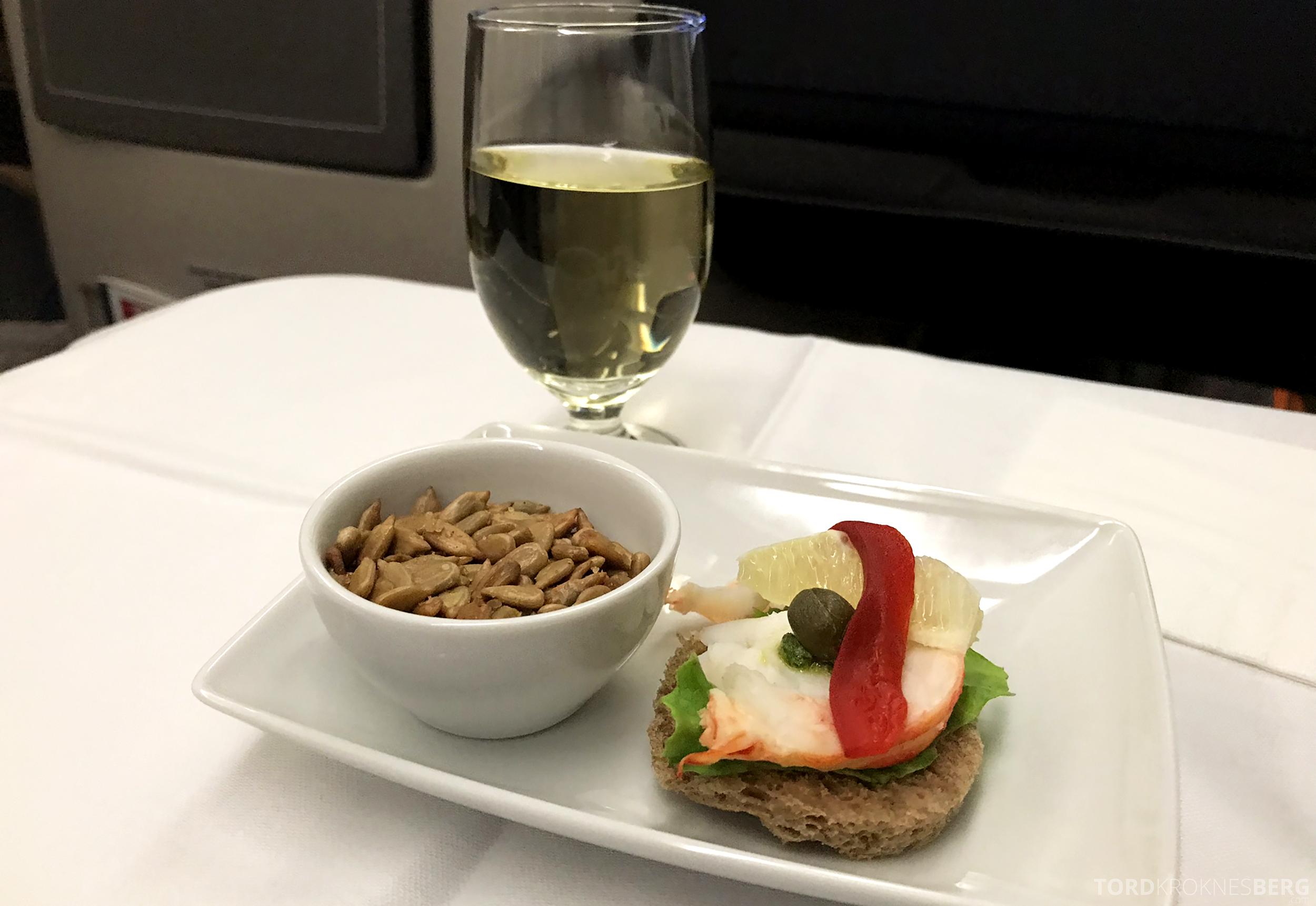 TAP Portugal Business Class Lisbon New York appetittvekker