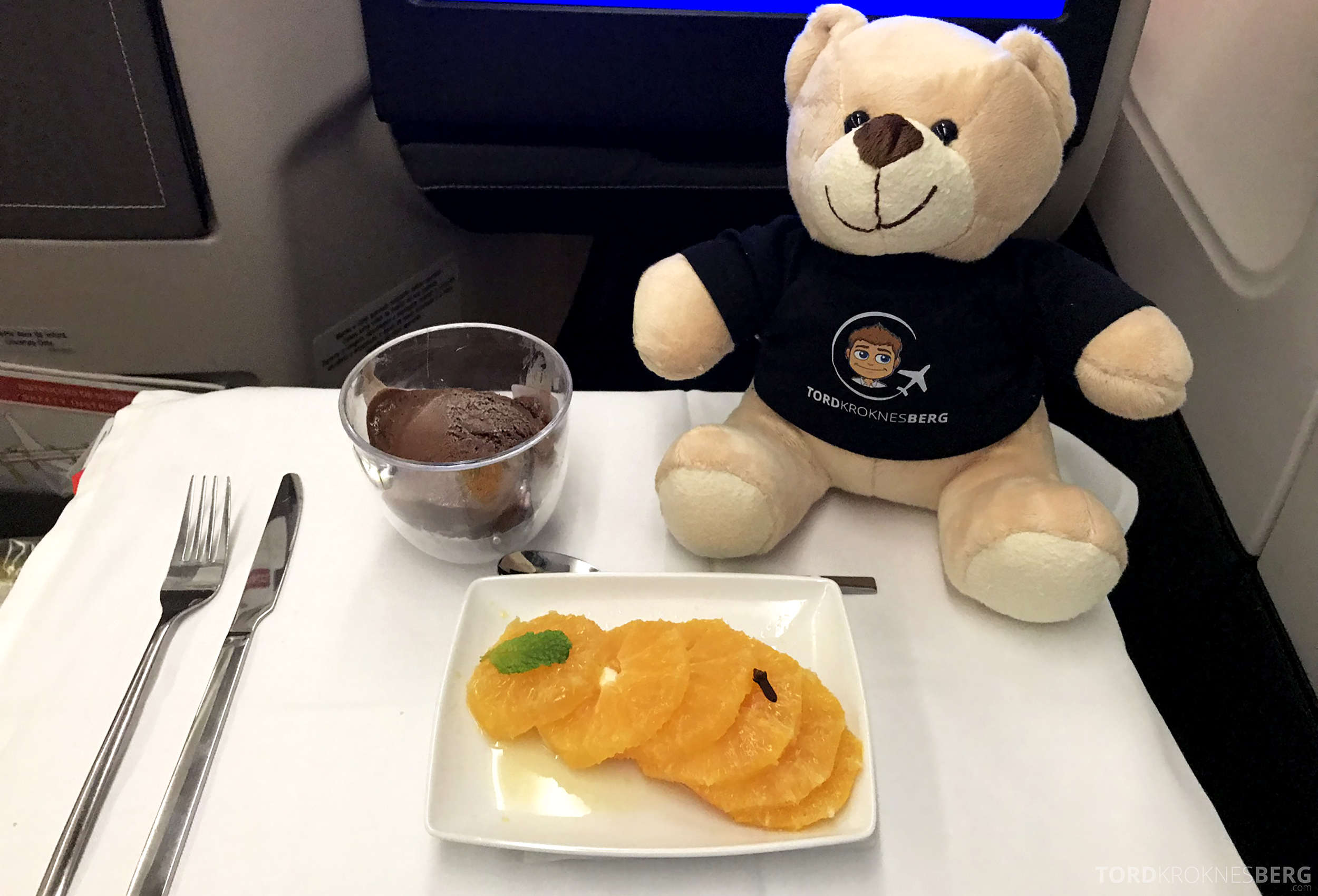 TAP Portugal Business Class Lisbon New York dessert