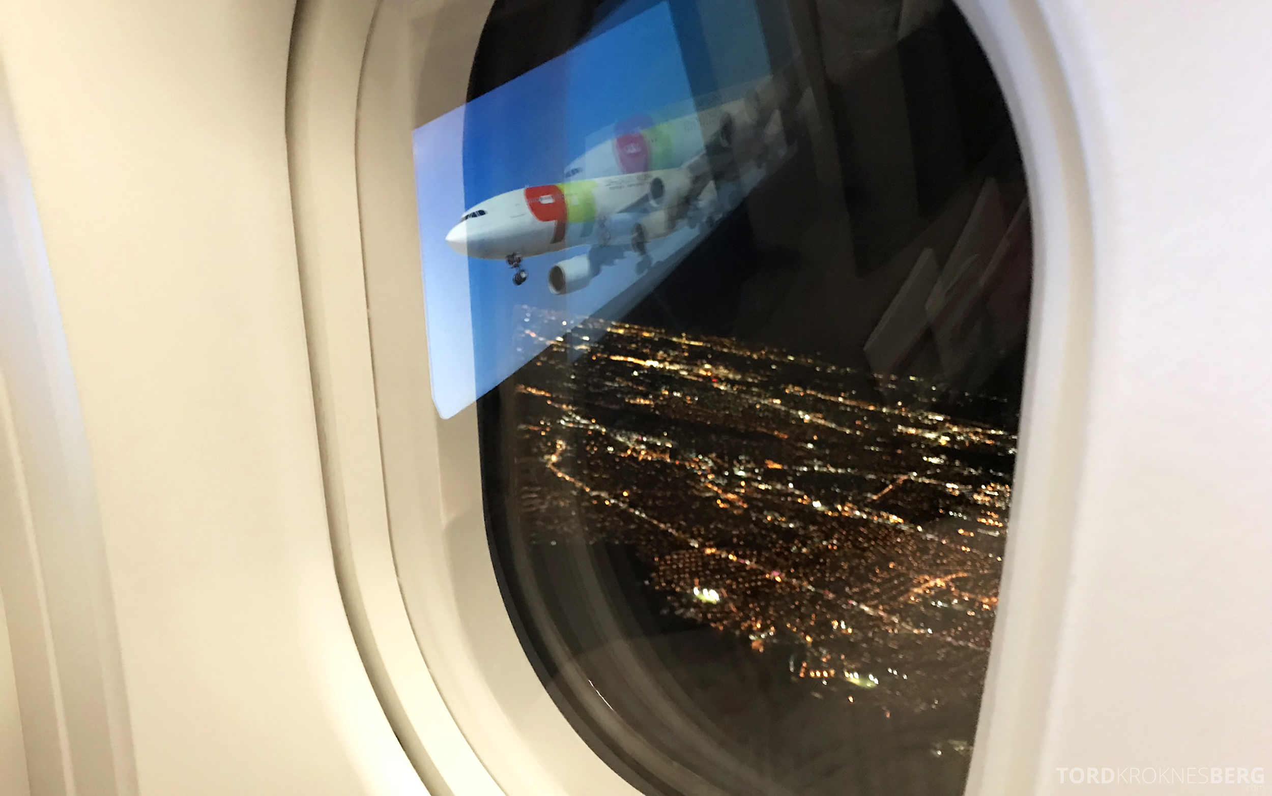 TAP Portugal Business Class Lisbon New York landing