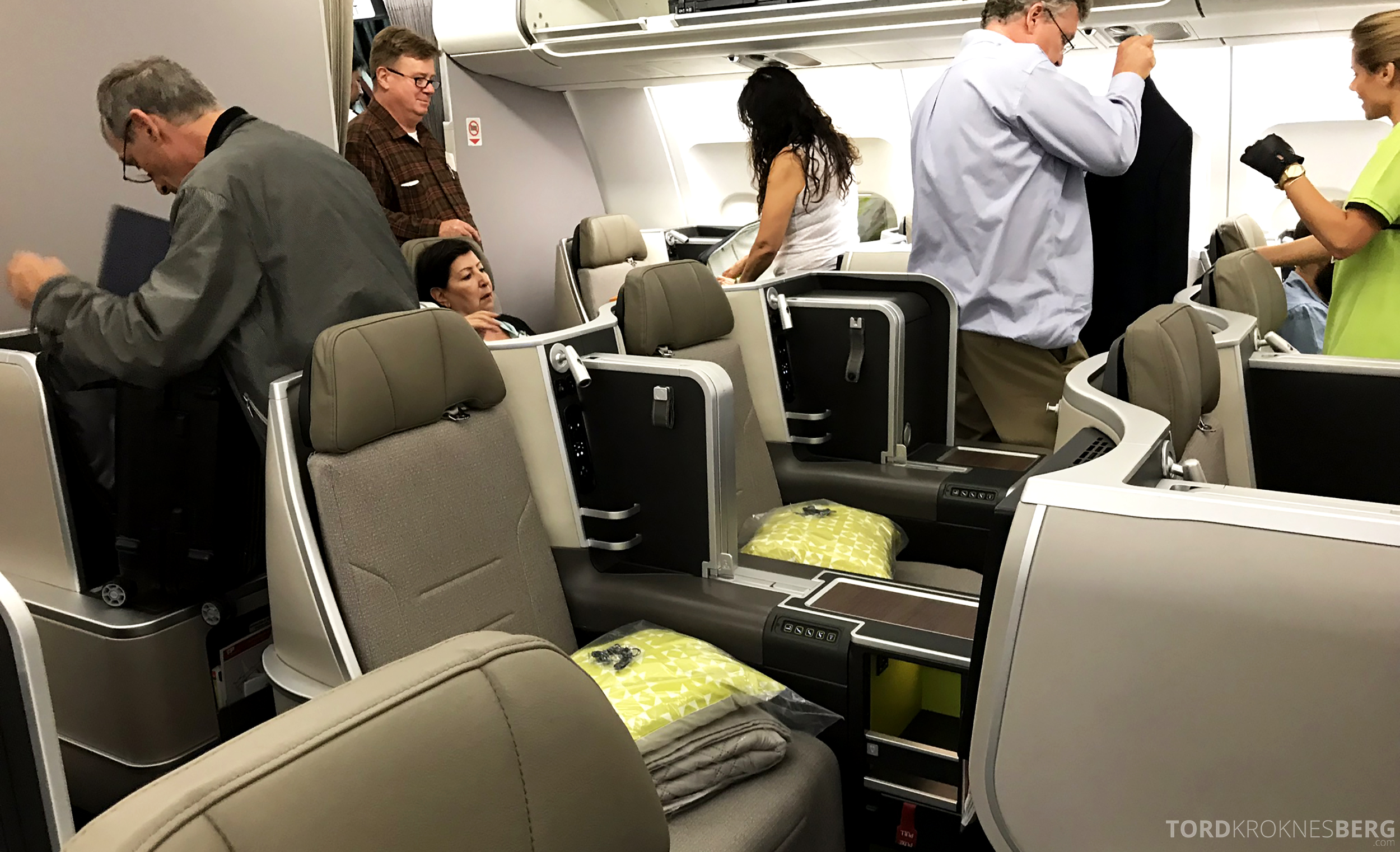 TAP Portugal Business Class Lisbon New York ombord