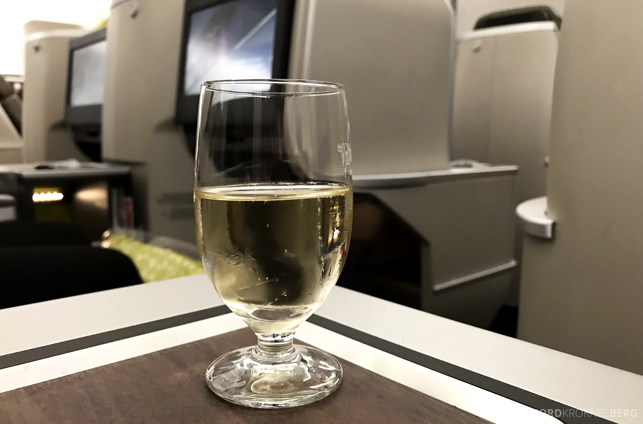TAP Portugal Business Class New York Lisbon velkomstdrink