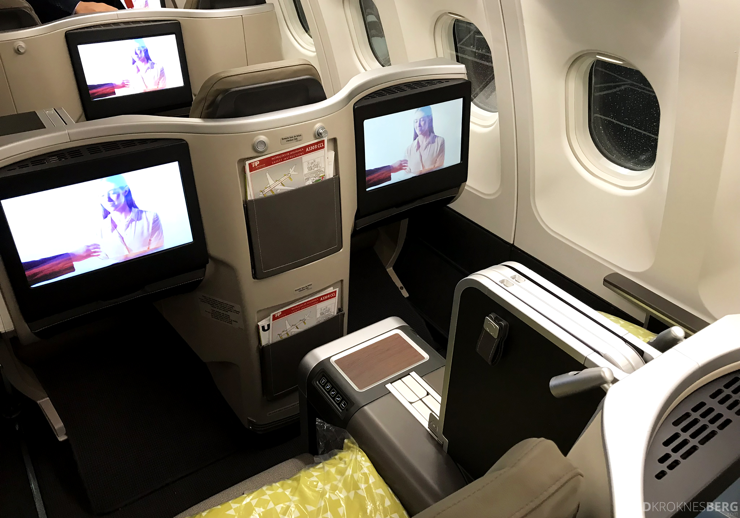 TAP Portugal Business Class New York Lisbon seter