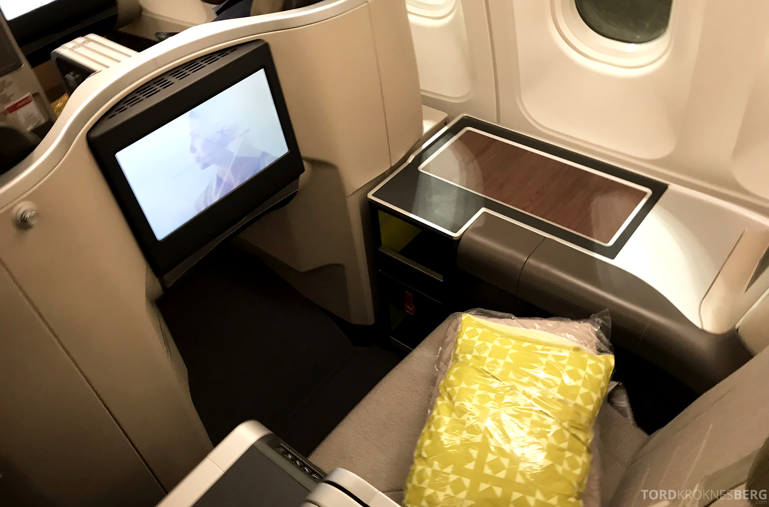 TAP Portugal Business Class New York Lisbon sete