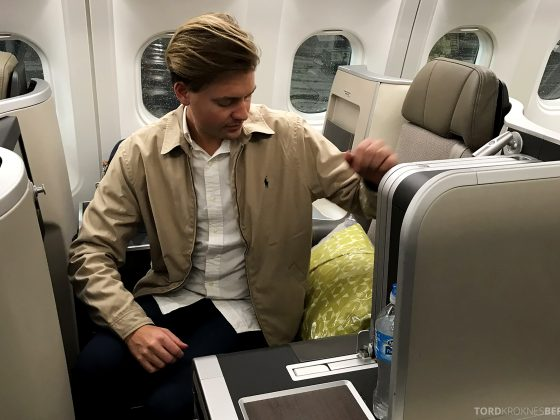 TAP Portugal Business Class New York Lisbon Tord Kroknes Berg