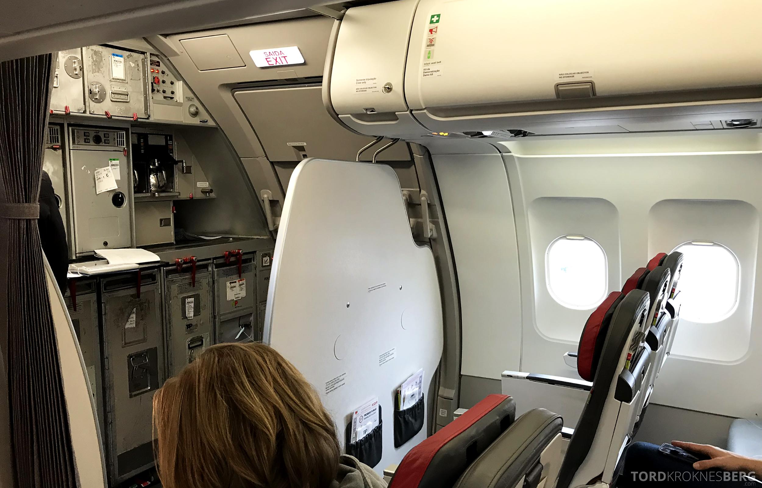 TAP Portugal Oslo Lisboa kabin
