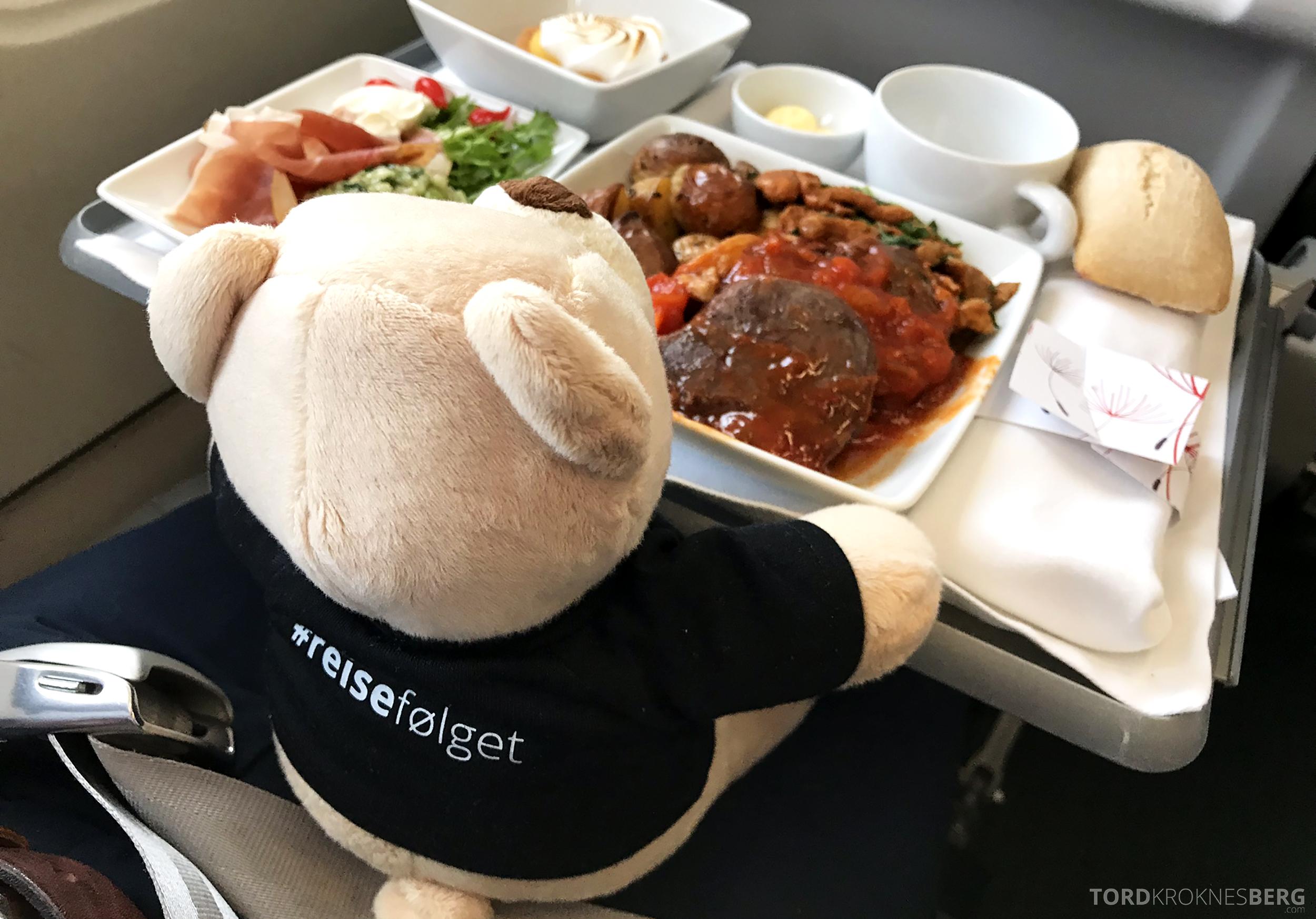 TAP Portugal Oslo Lisboa reisefølget mat