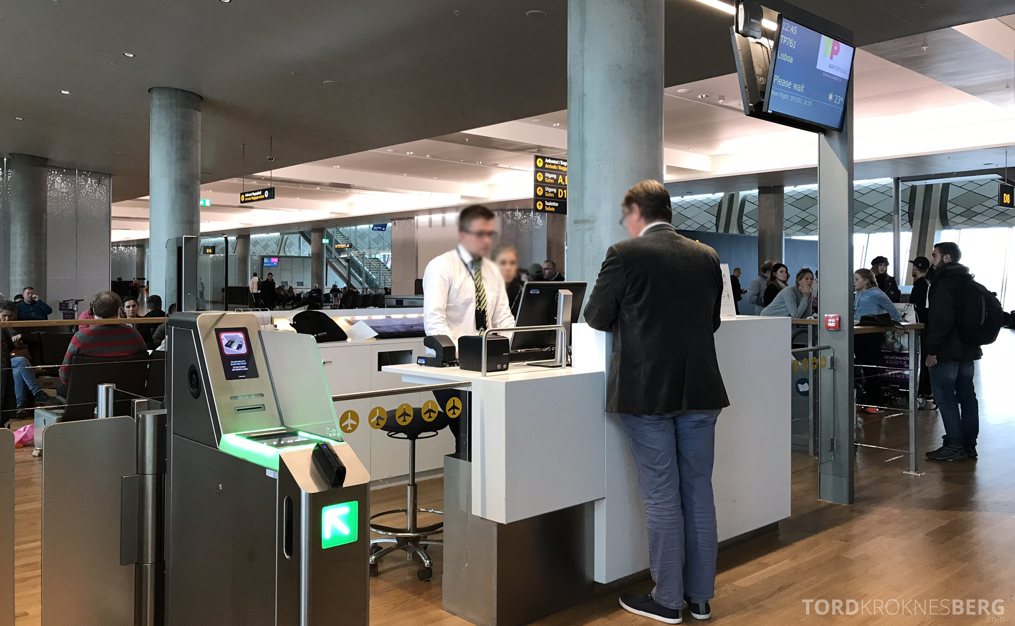 TAP Portugal Oslo Lisboa gate