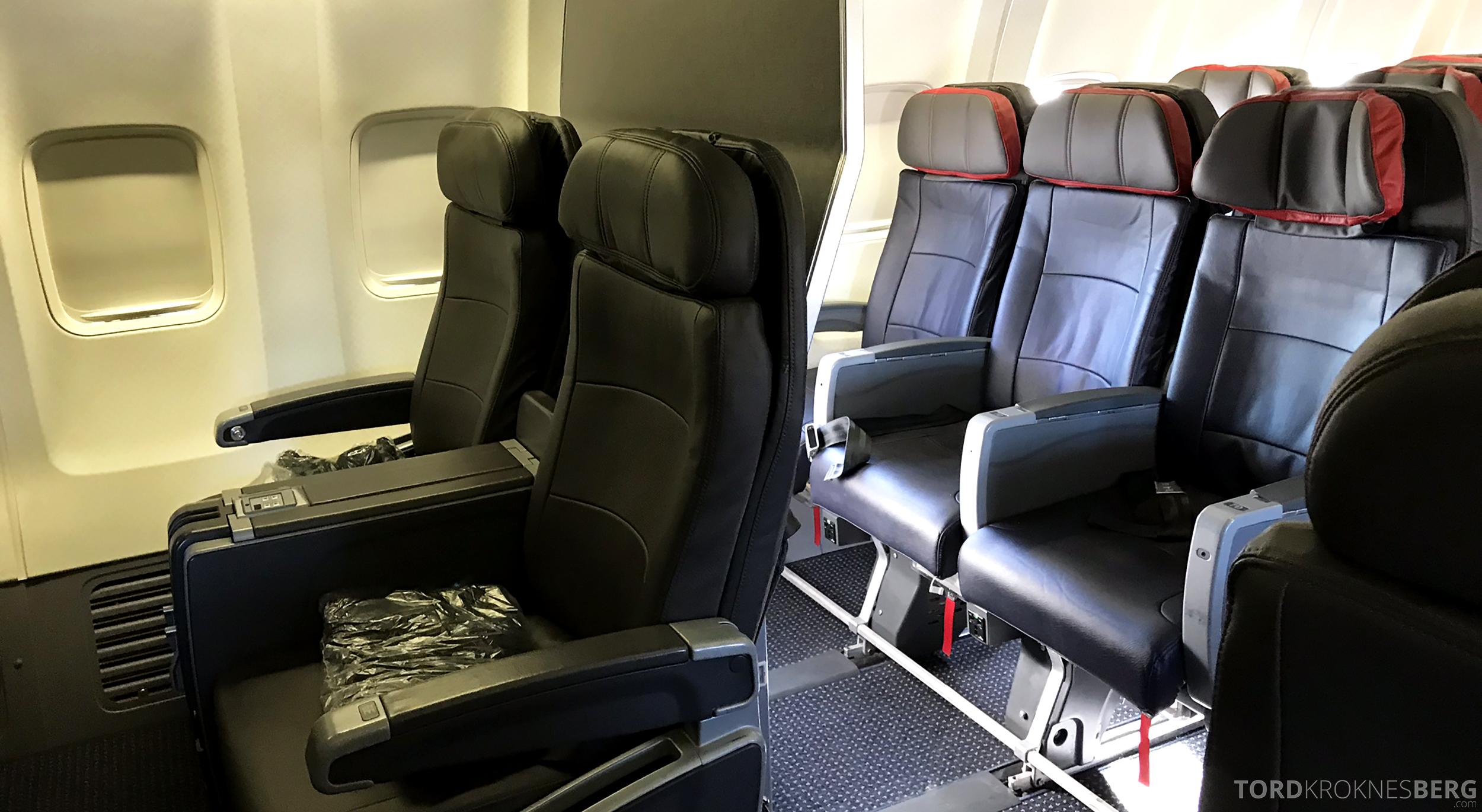 American Airlines First Class Chicago Minneapolis konfigurasjon