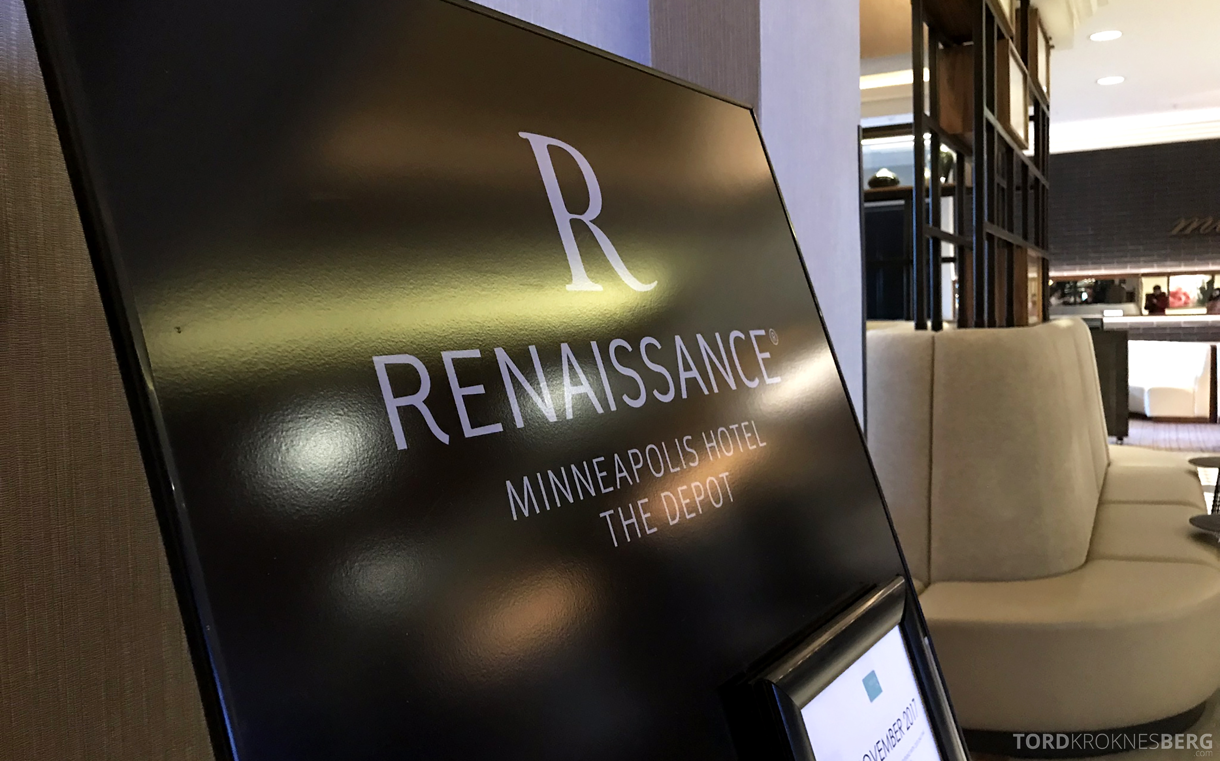 Renaissance Minneapolis The Depot Hotel skilt lobby