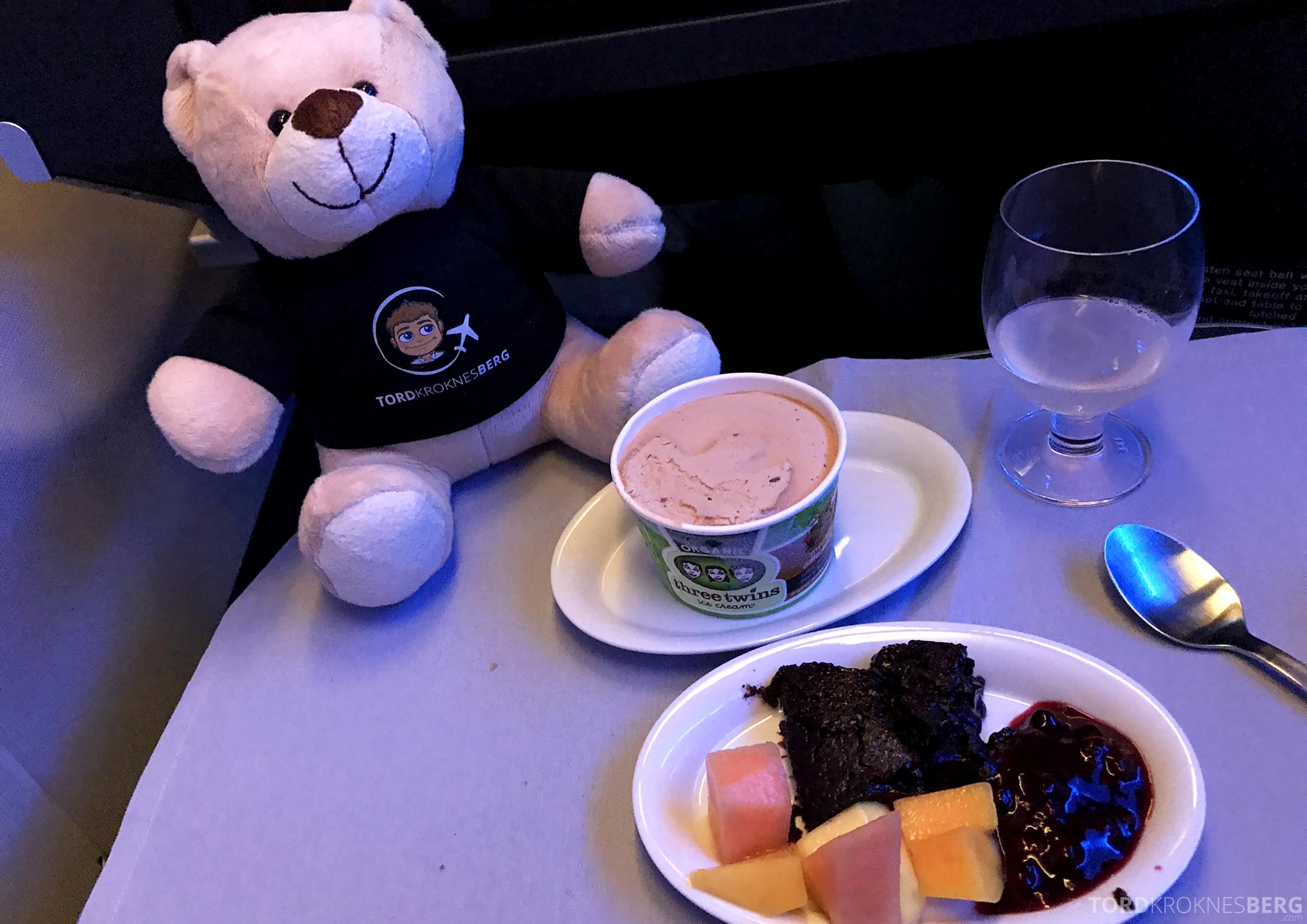SAS Business Chicago Oslo dessert reisefølget