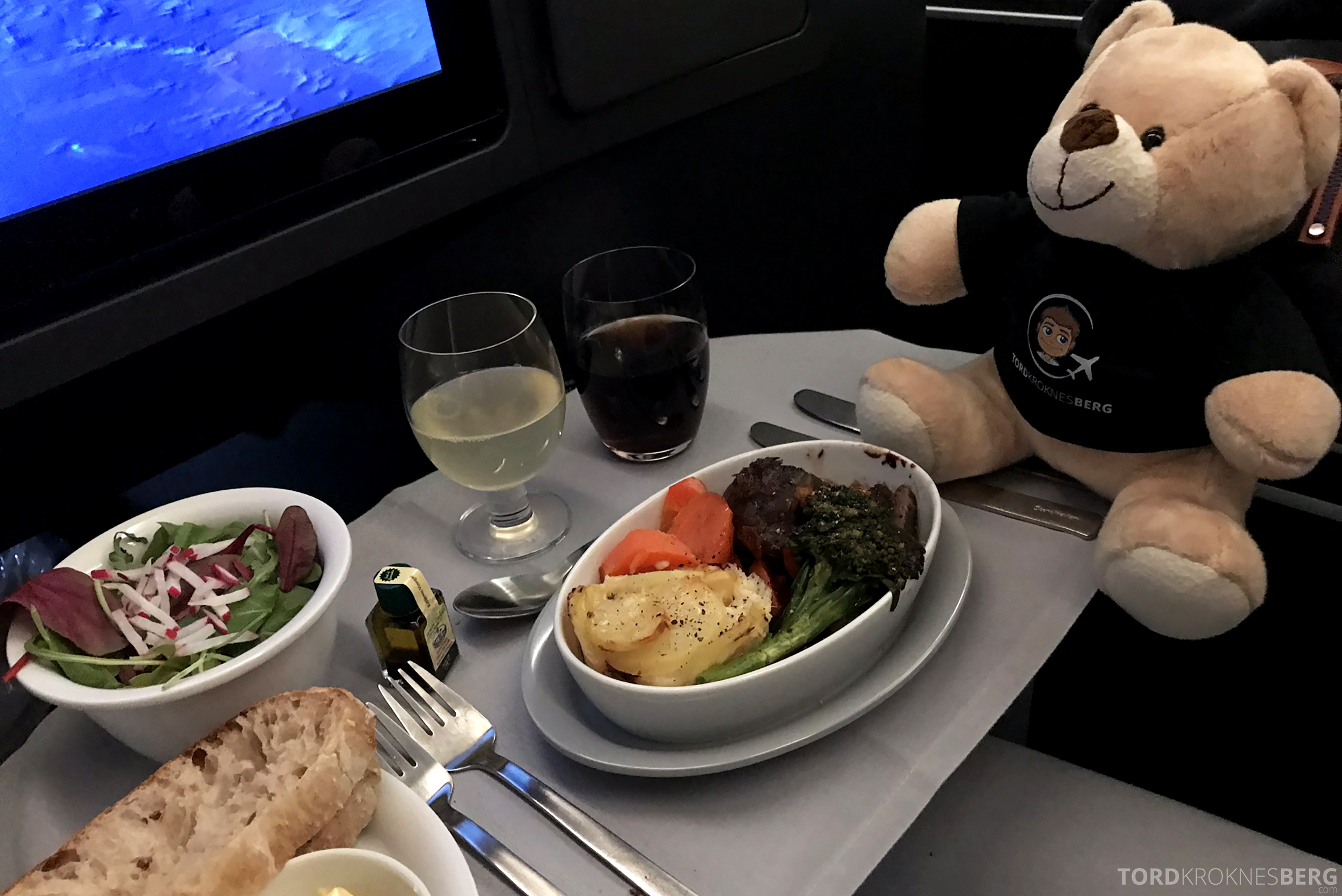 SAS Business Class Stockholm Chicago hovedrett reisegfølget