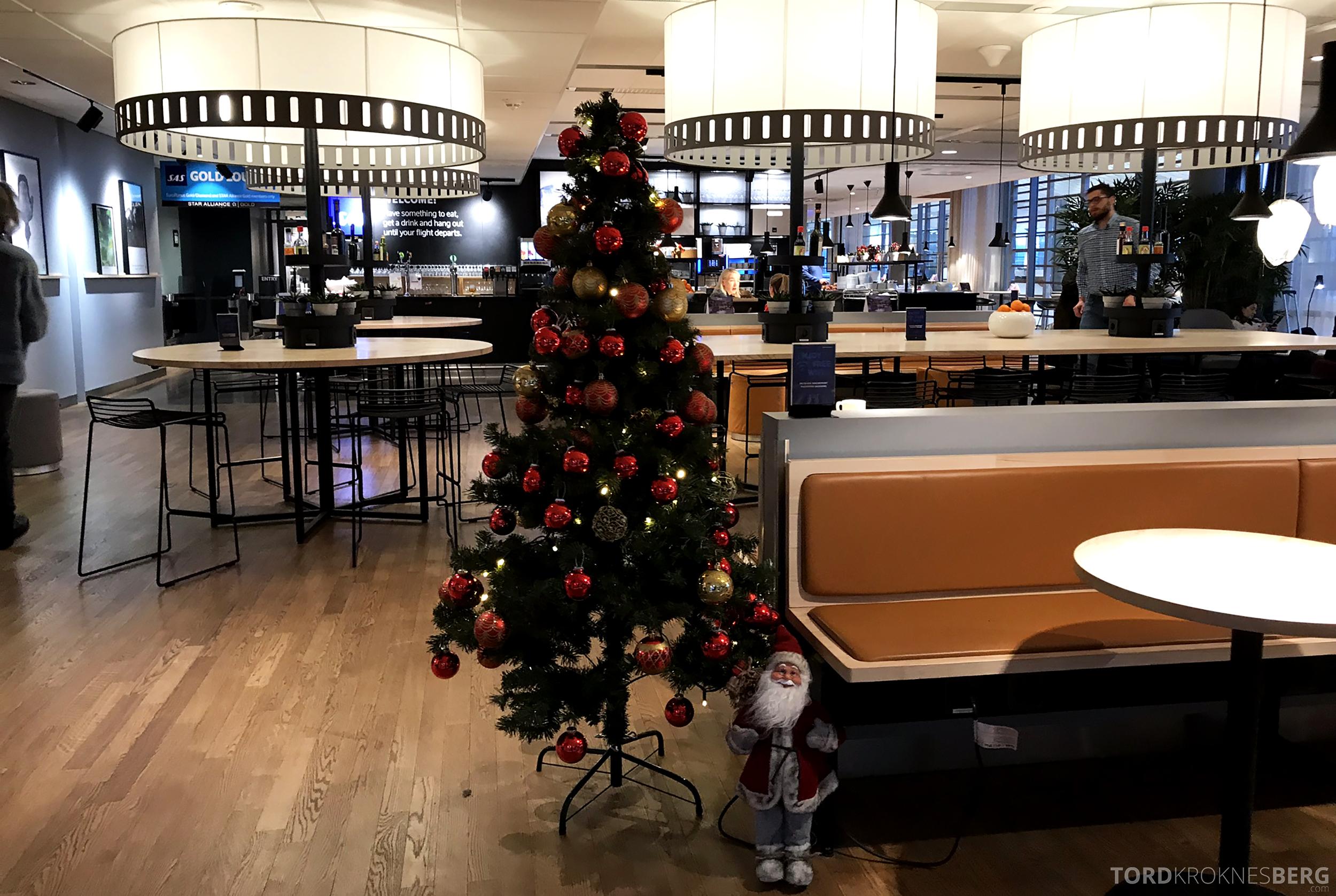SAS Plus Oslo Paris julestemning lounge