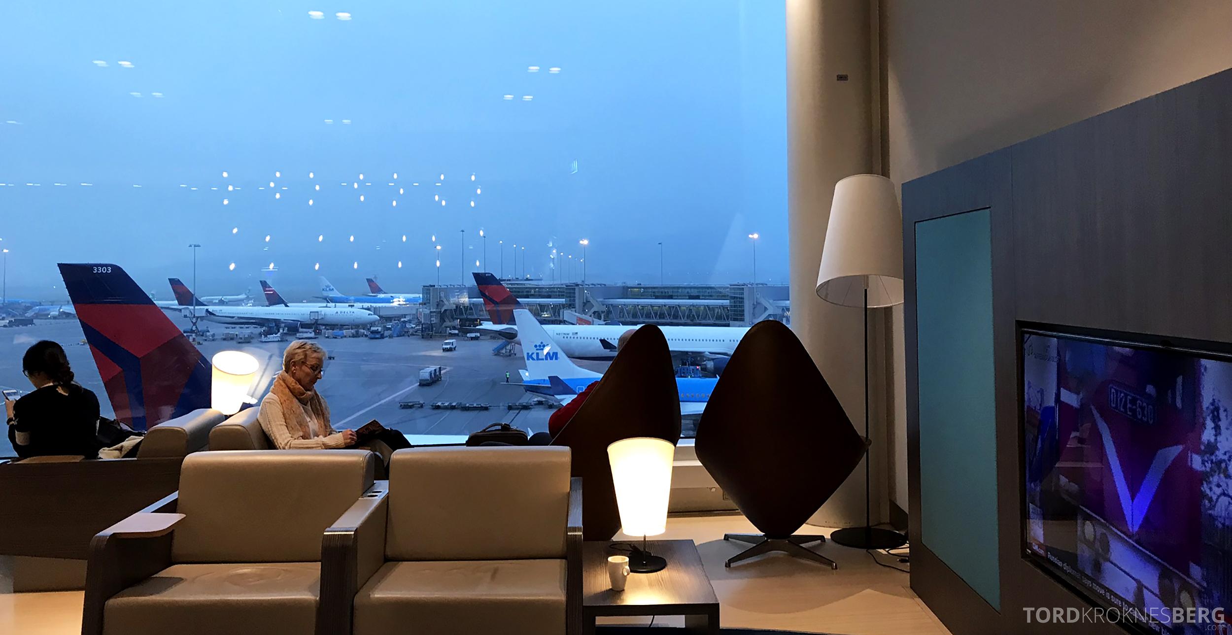 Aspire Lounge Schiphol Singapore utsikt