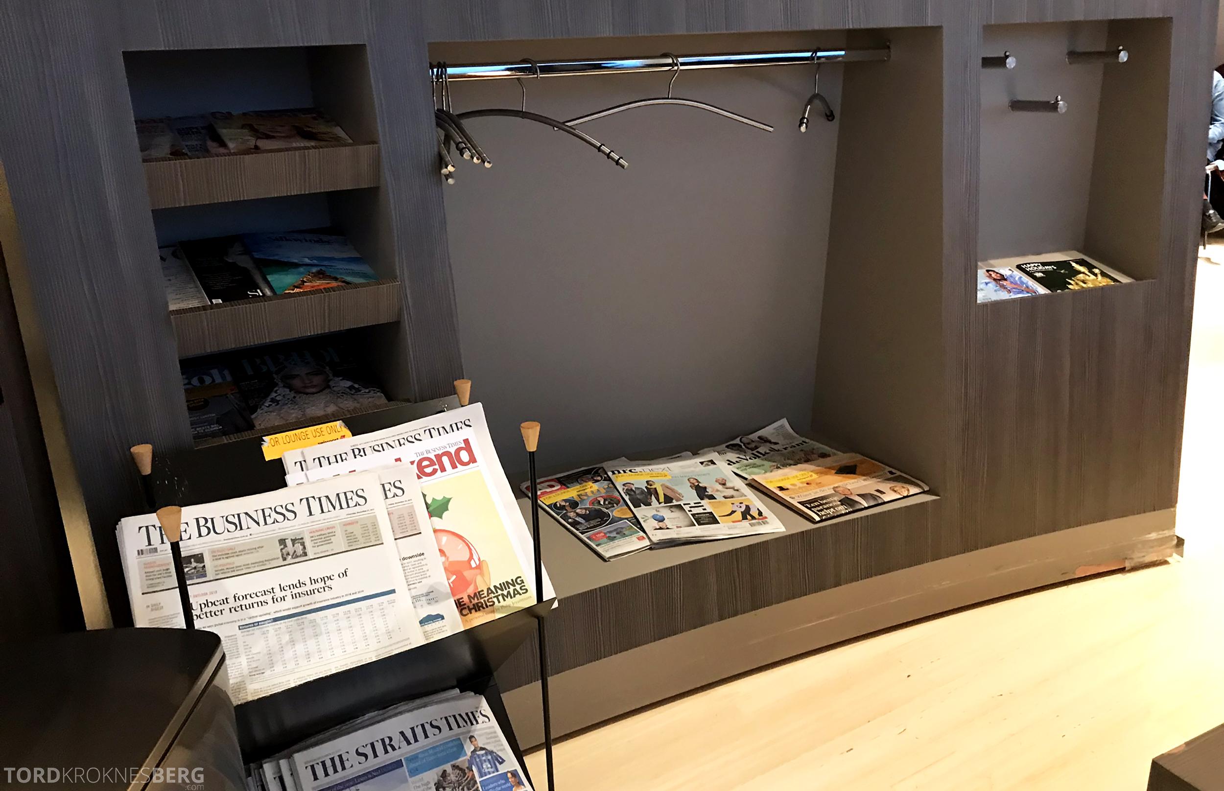 Aspire Lounge Schiphol Singapore aviser