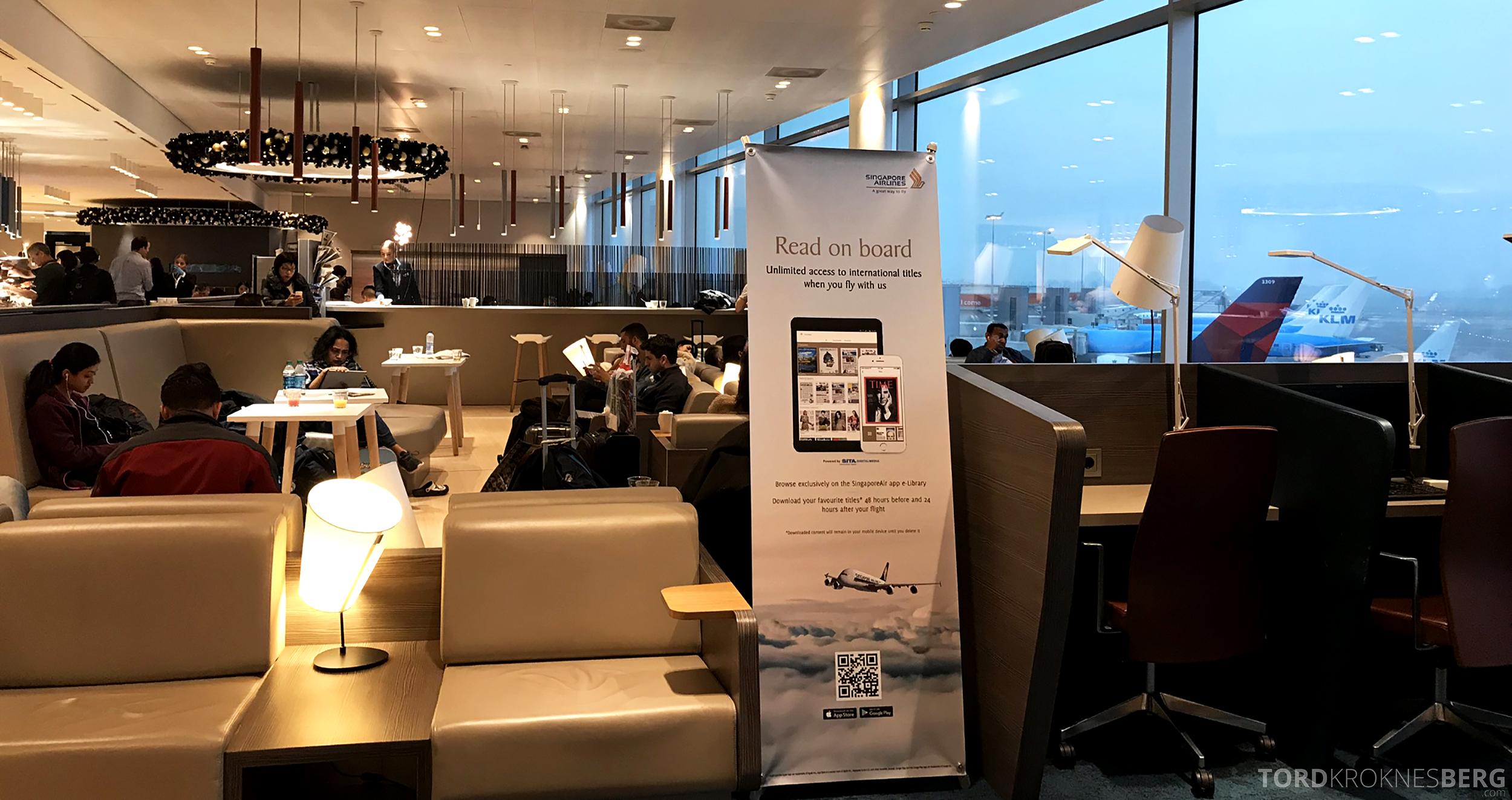 Aspire Lounge Schiphol Singapore krok