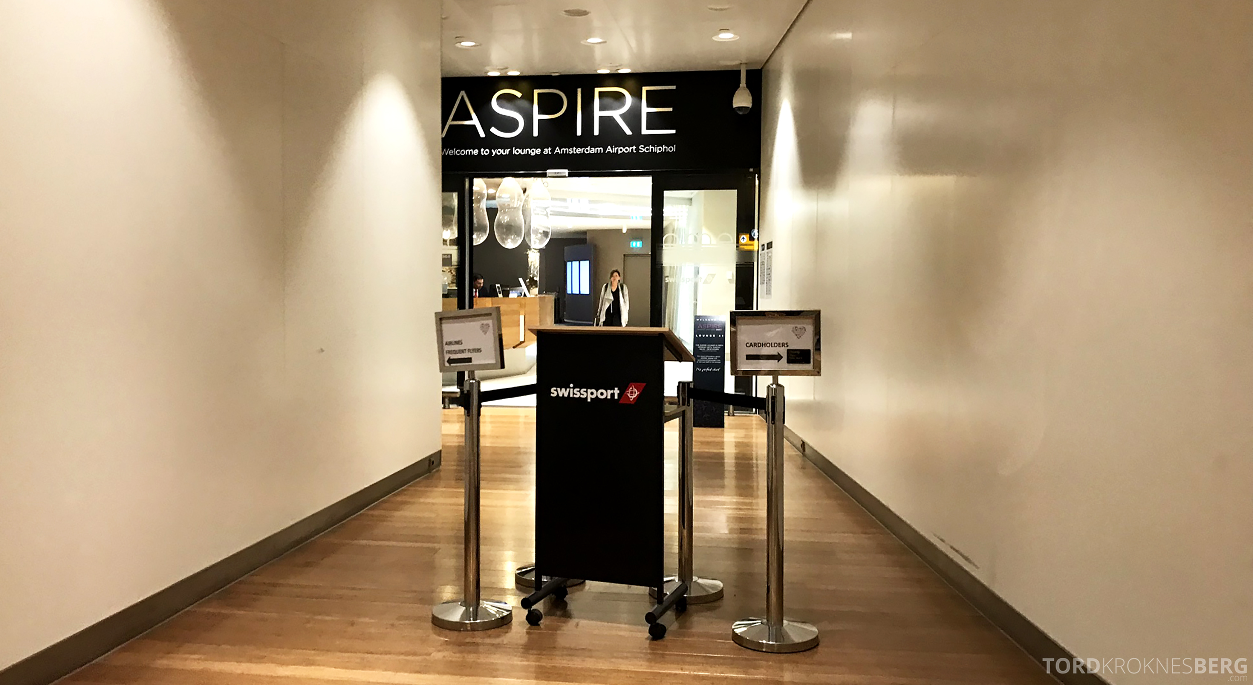 Aspire Lounge Schiphol inngang