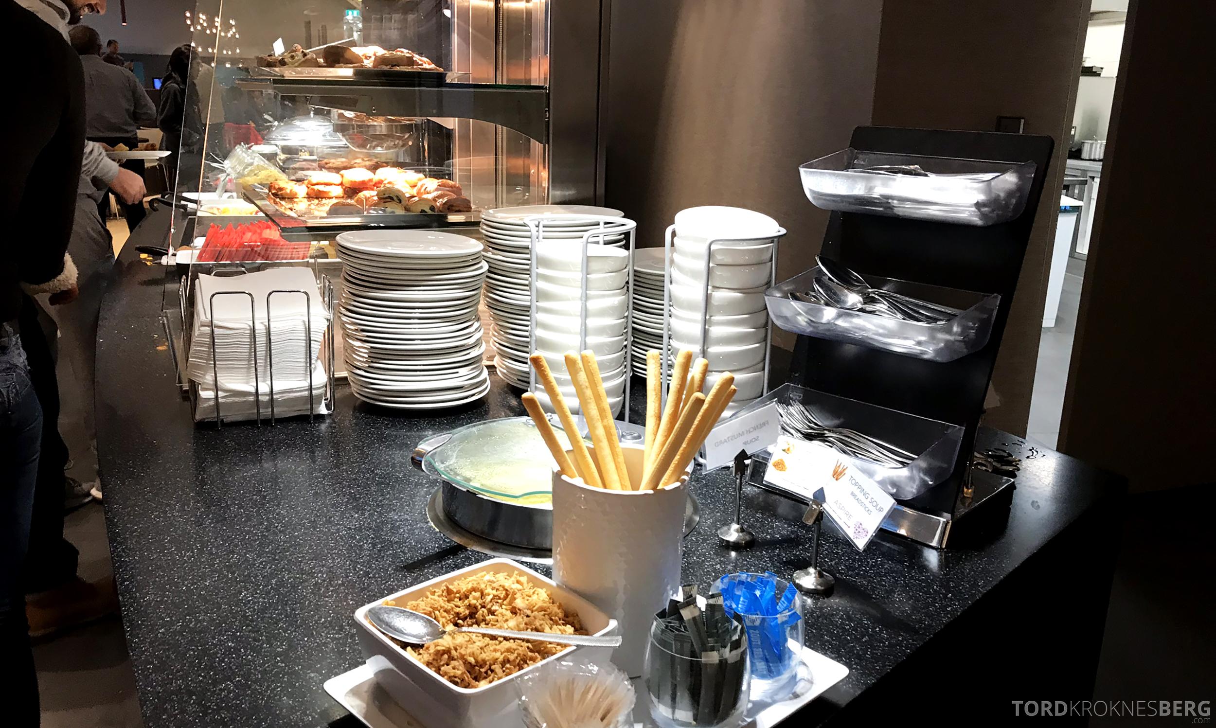 Aspire Lounge Schiphol fellesbuffet