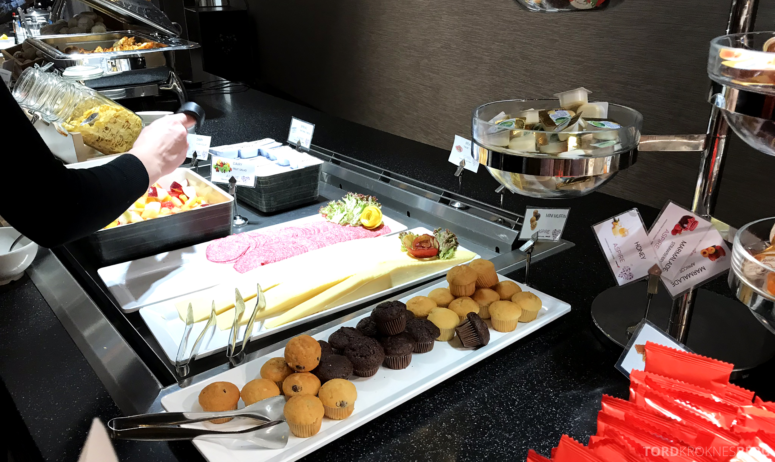 Aspire Lounge Schiphol felleslounge buffet