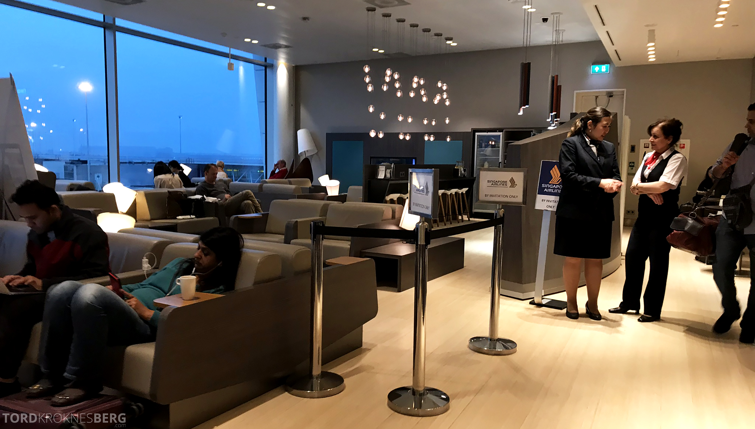 Aspire Lounge Schiphol Singapore Airlines
