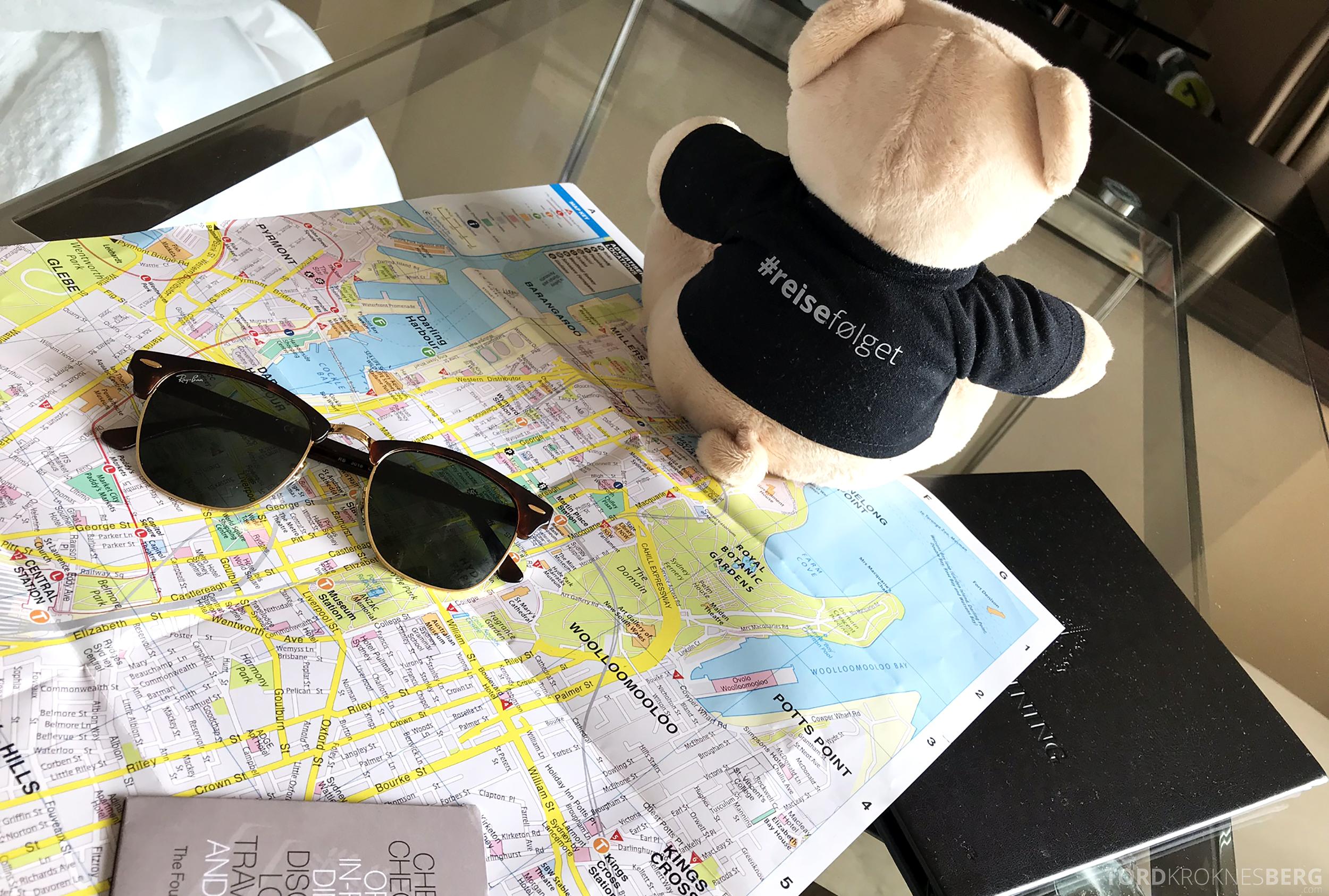 Four Seasons Hotel Sydney reisefølget kart