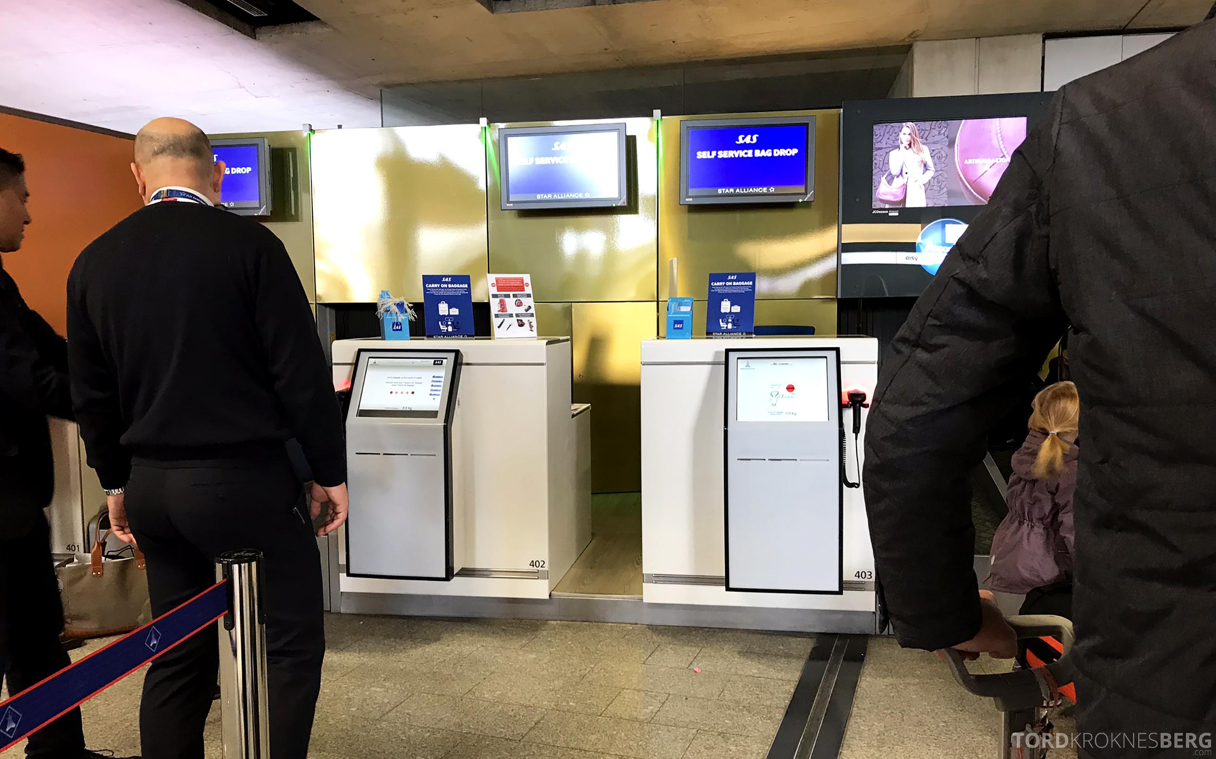 SAS Plus Paris Oslo innsjekk