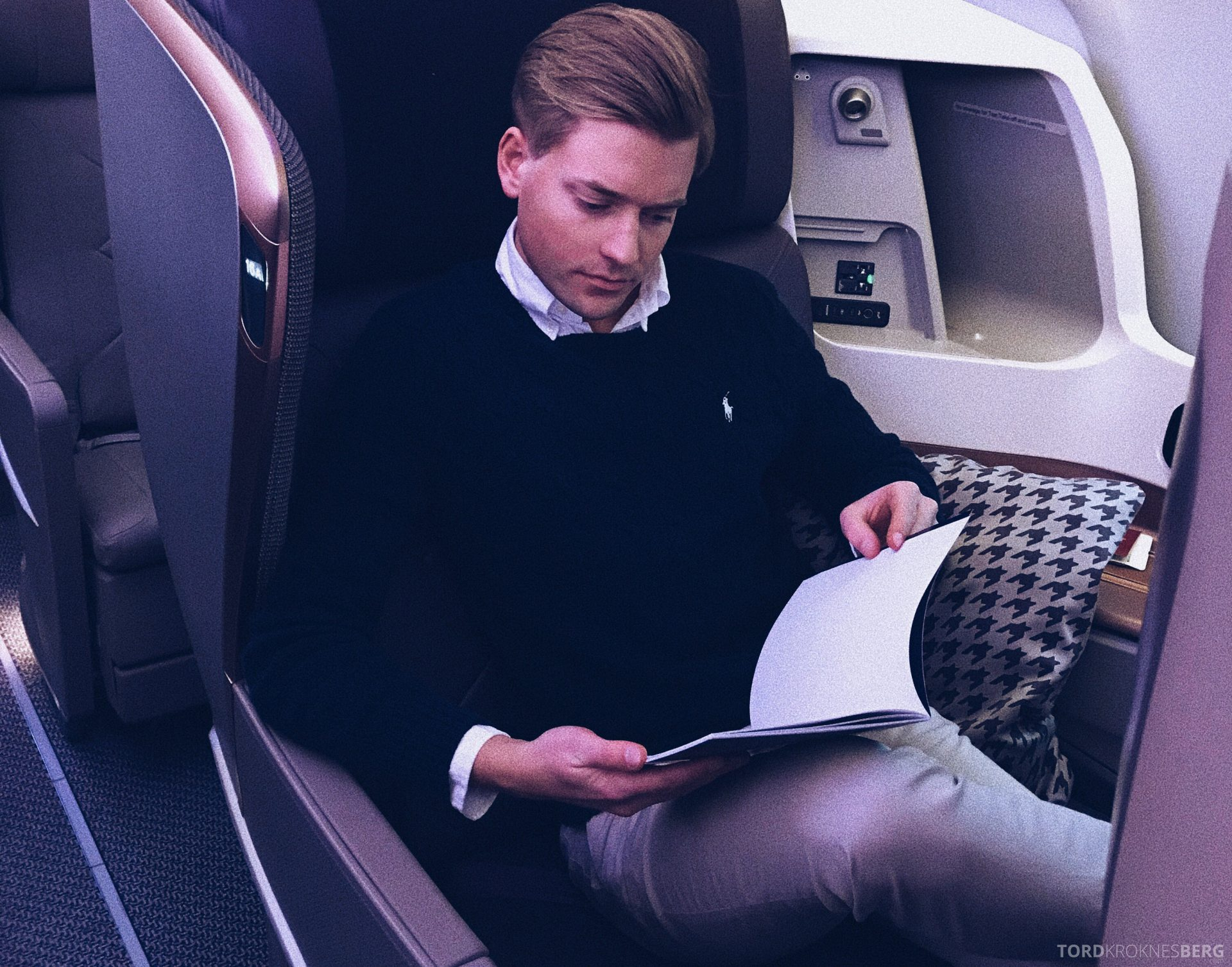 Singapore Airlines Business Class Amsterdam Singapore Tord Kroknes Berg