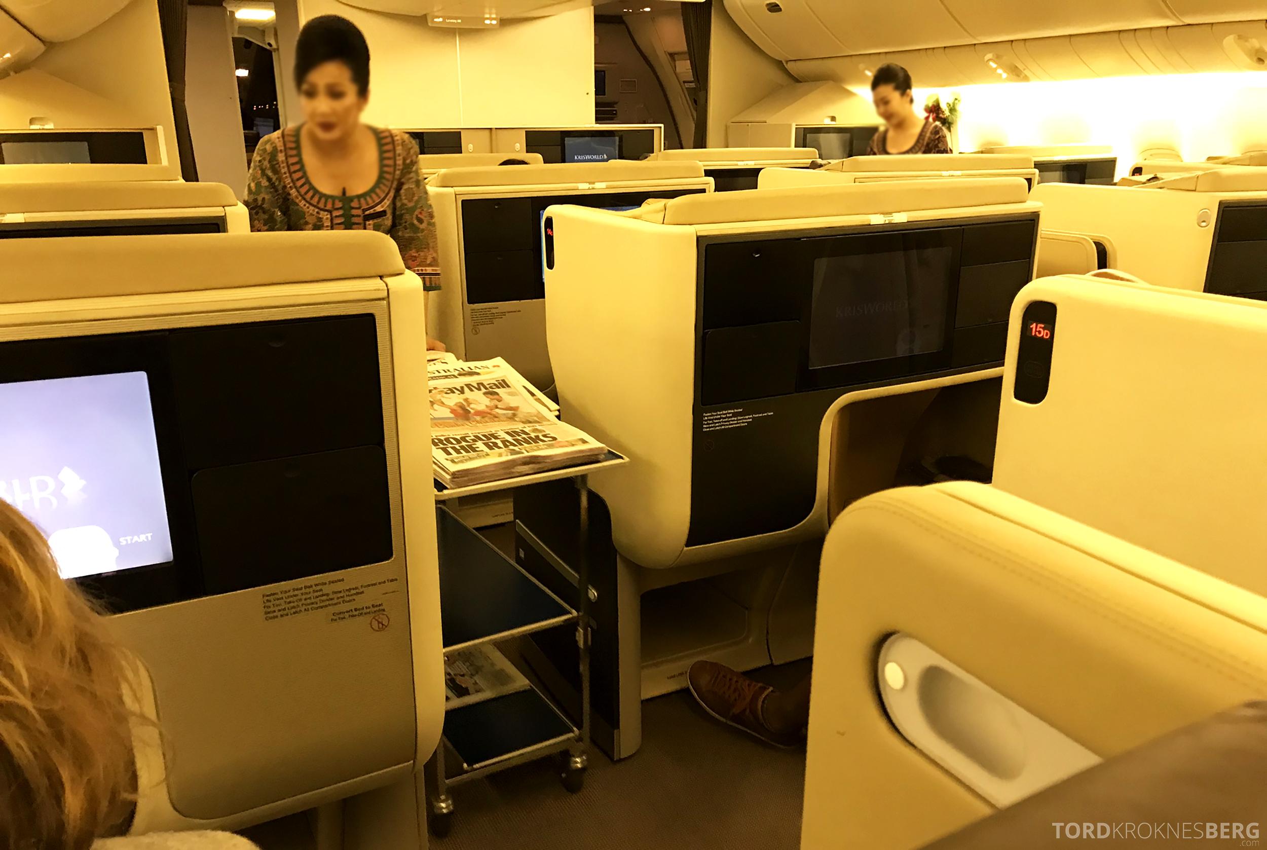Singapore Airlines Business Class Brisbane aviser