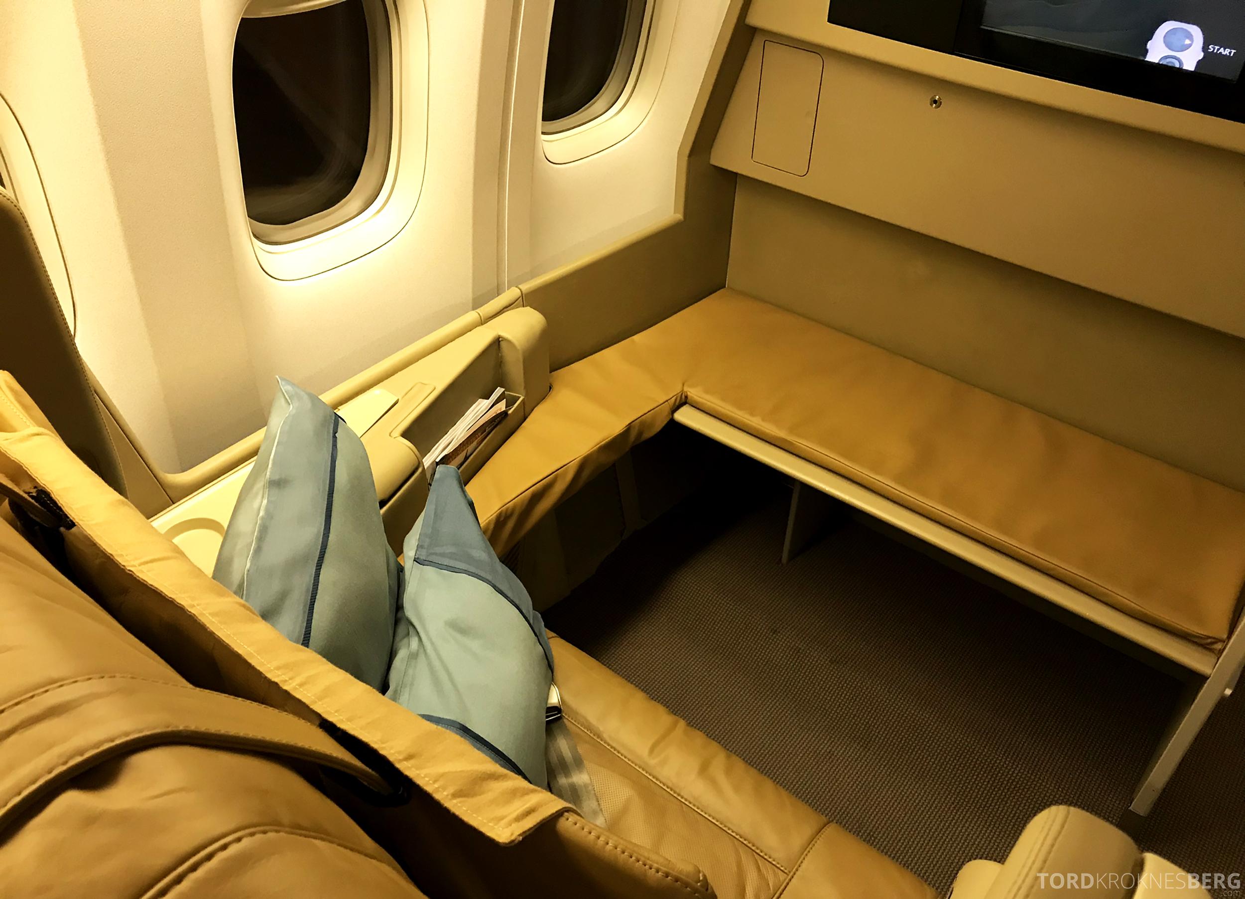 Singapore Airlines Business Class Brisbane første rad