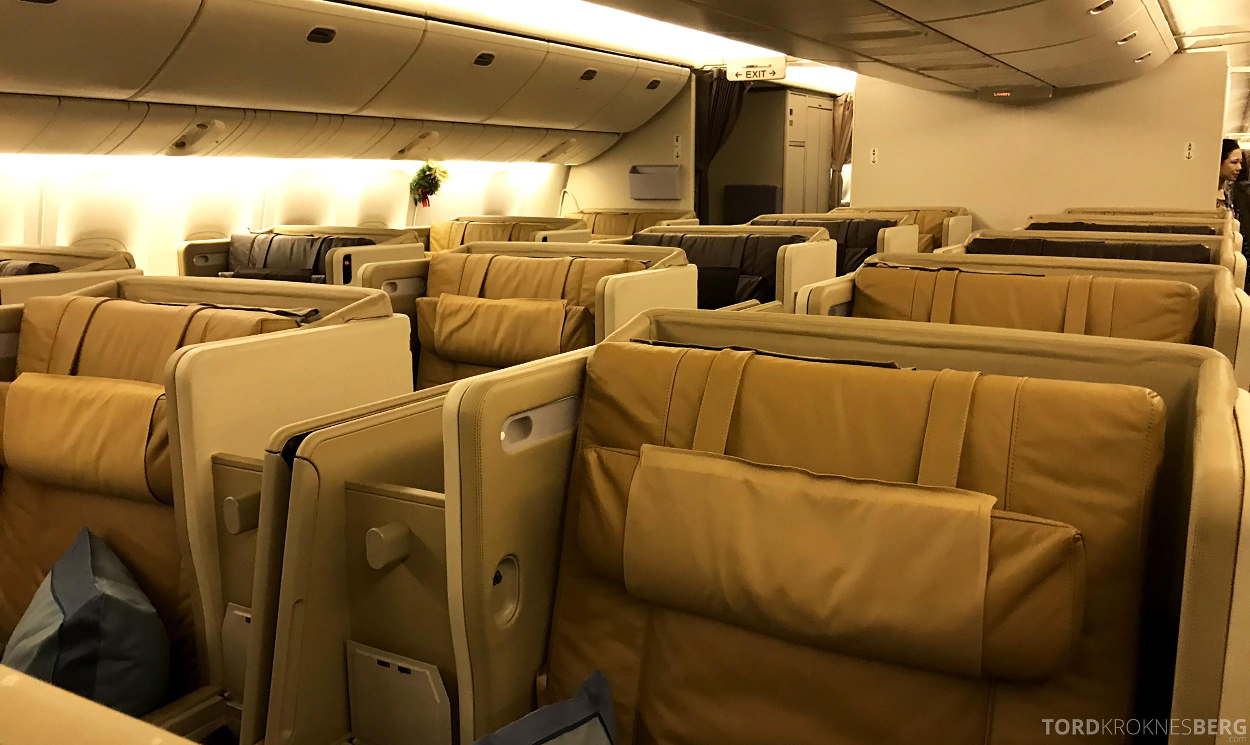Singapore Airlines Business Class Brisbane utdatert kabin