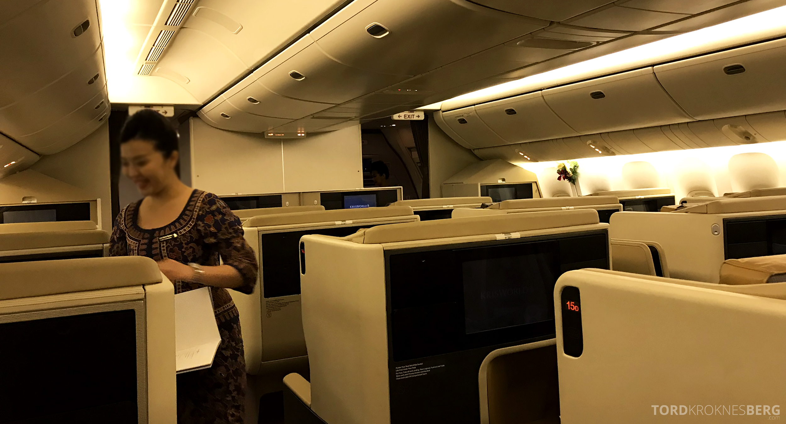 Singapore Airlines Business Class Brisbane utdeling meny