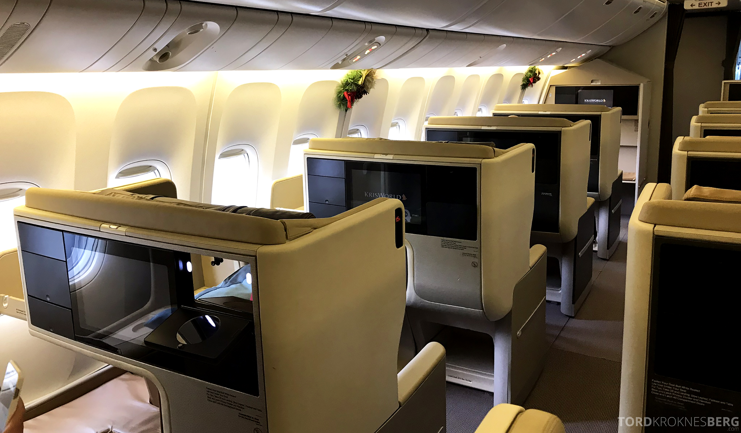 Singapore Airlines Business Class Brisbane Singapore kabin