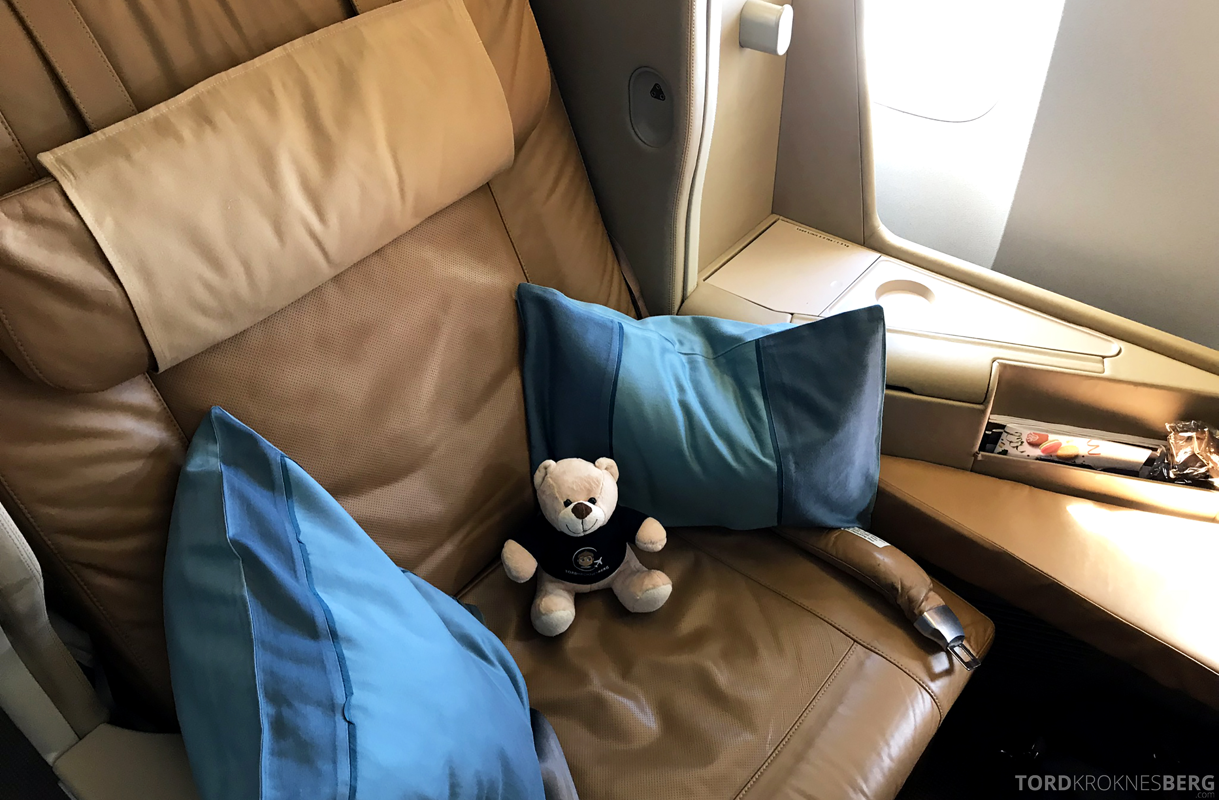 Singapore Airlines Business Class Brisbane Singapore reisefølget sete