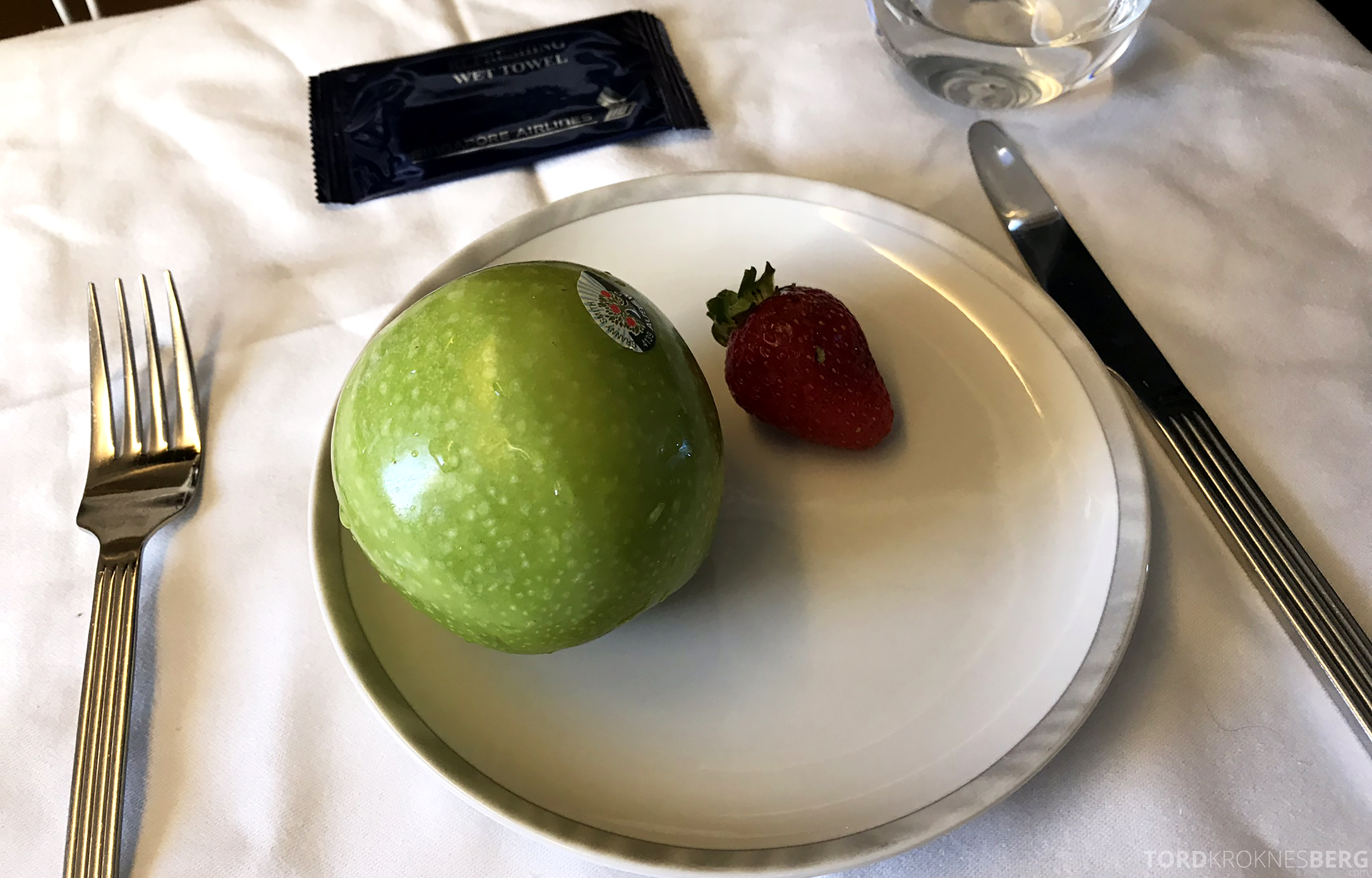 Singapore Airlines Business Class Brisbane Singapore frukt