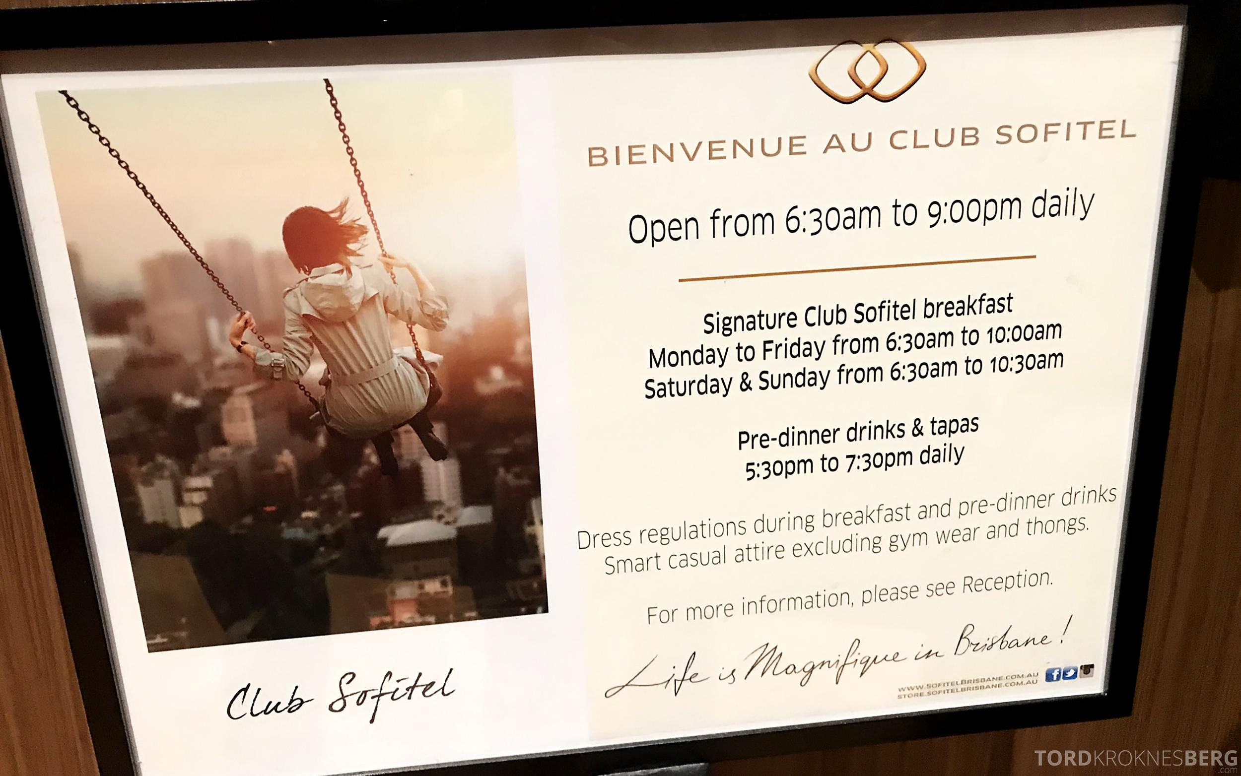 Sofitel Hotel Brisbane Club Lounge informasjon