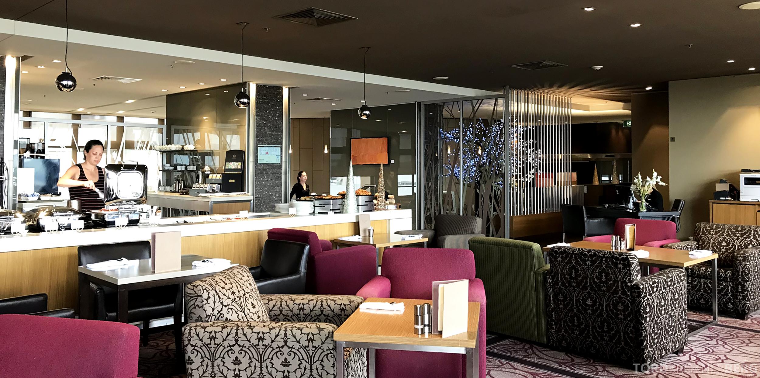 Sofitel Hotel Brisbane Club Lounge utsikt buffet
