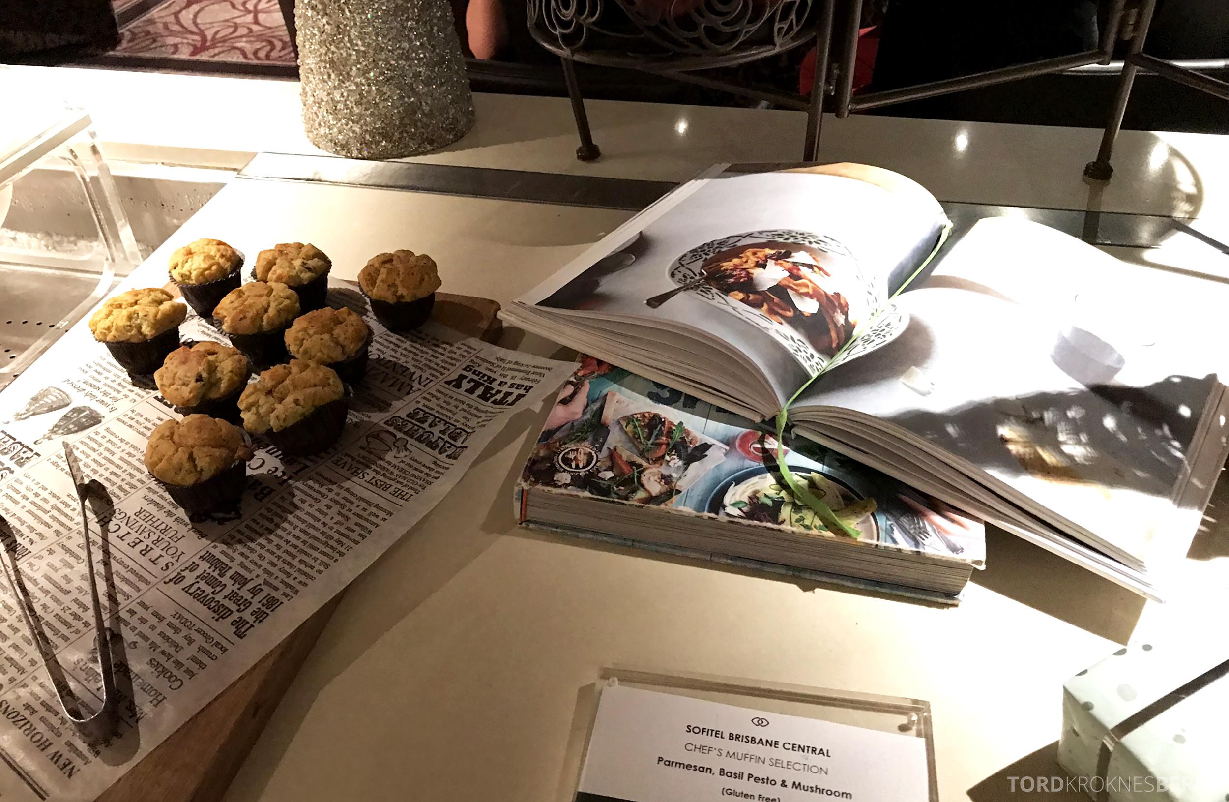 Sofitel Hotel Brisbane Club Lounge muffins