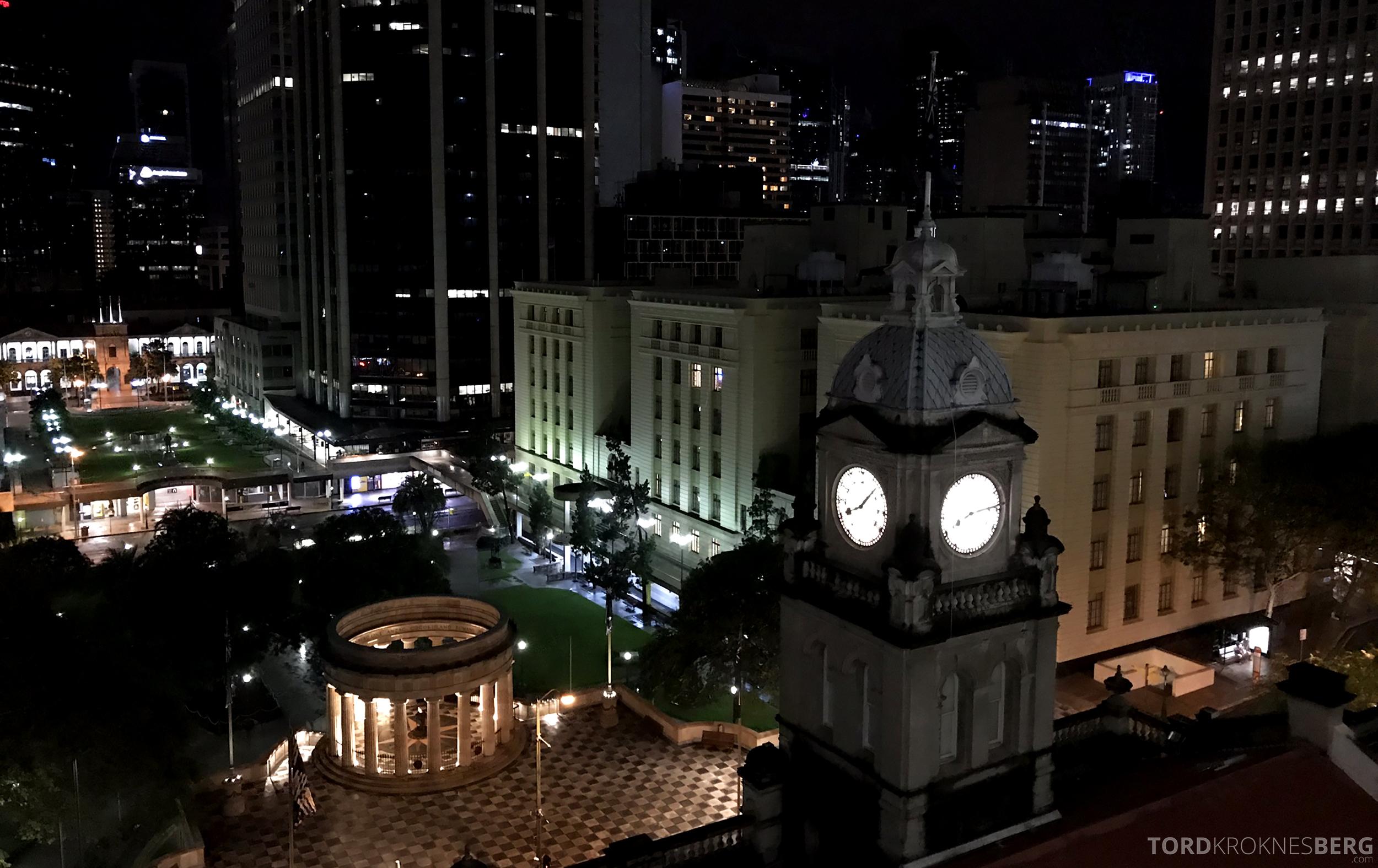 Sofitel Hotel Brisbane utsikt natt