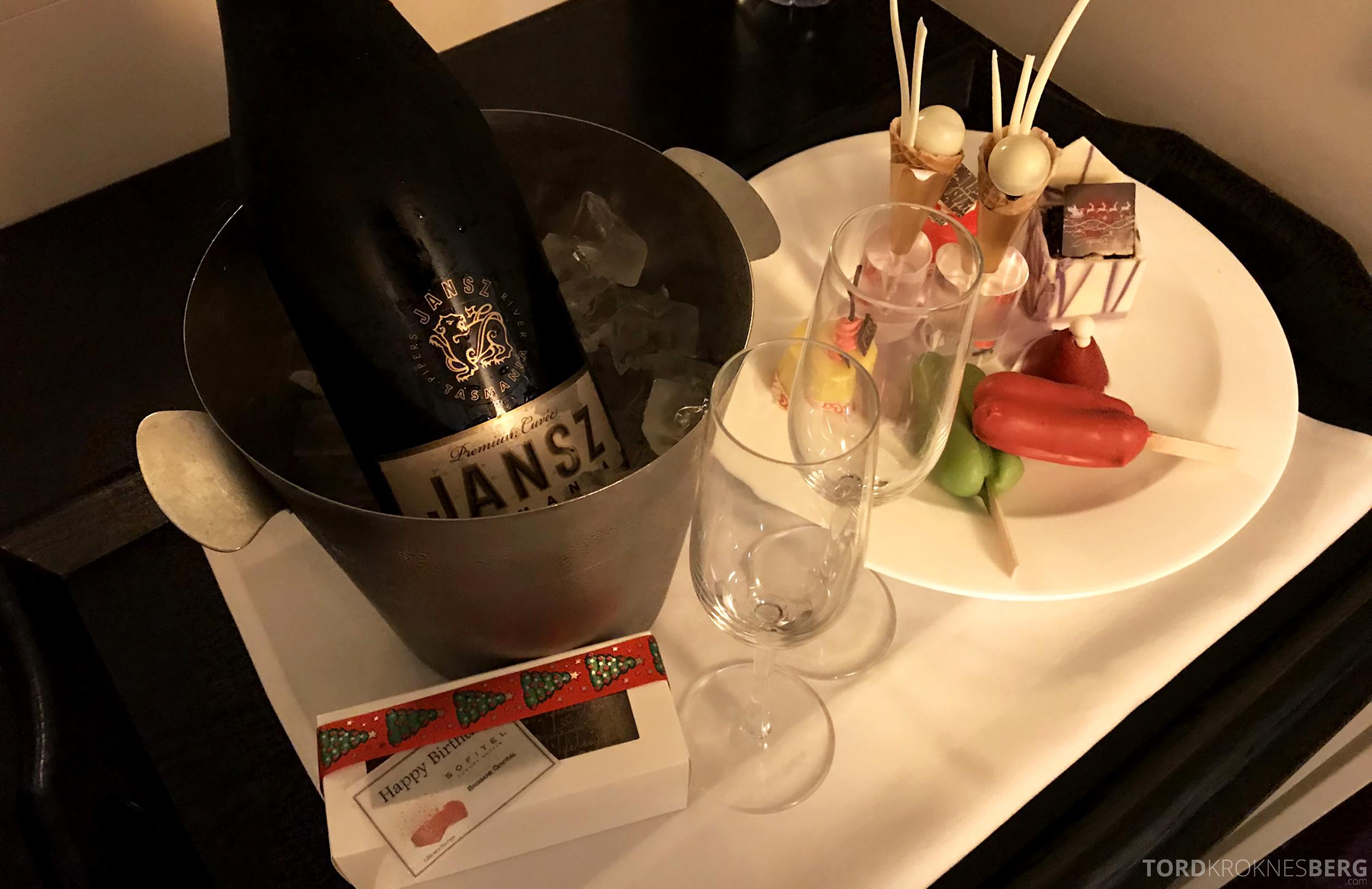 Sofitel Hotel Brisbane velkomstgave