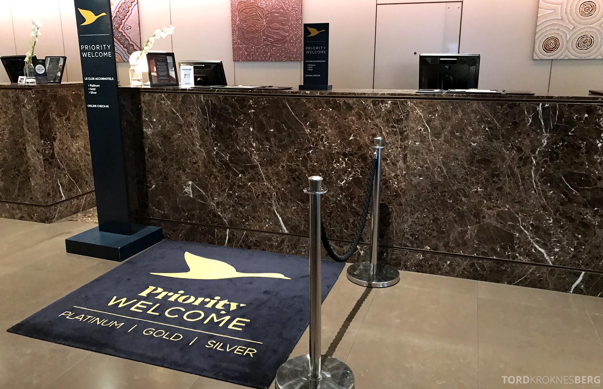 Sofitel Hotel Brisbane resepsjon gullmedlem