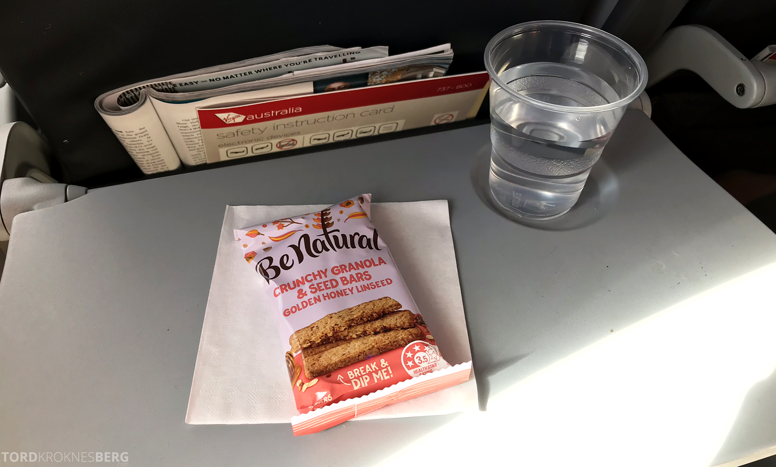 Virgin Australia Economy Class Brisbane Sydney gratis mat
