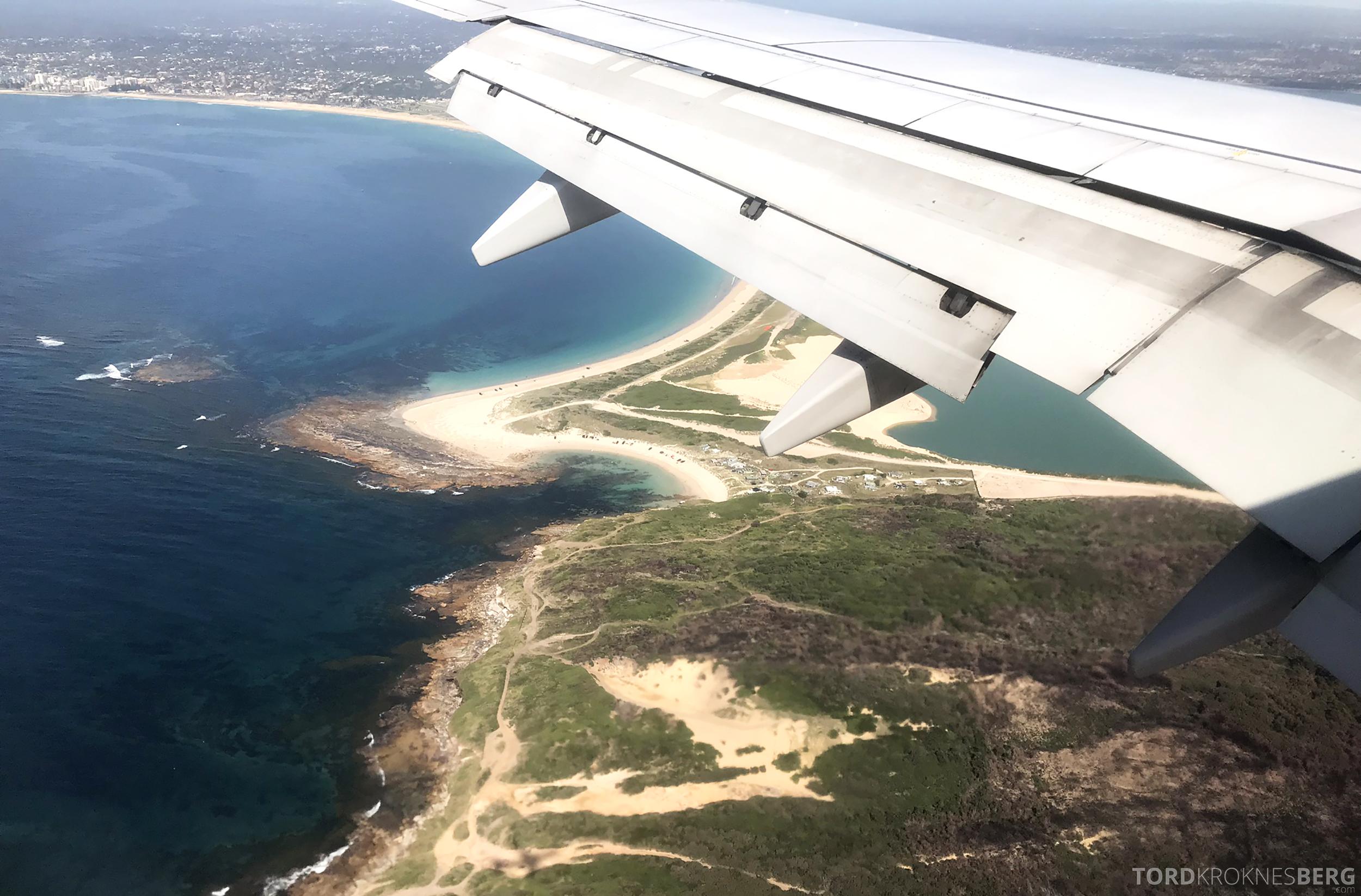 Virgin Australia Economy Class Brisbane Sydney innflyvning